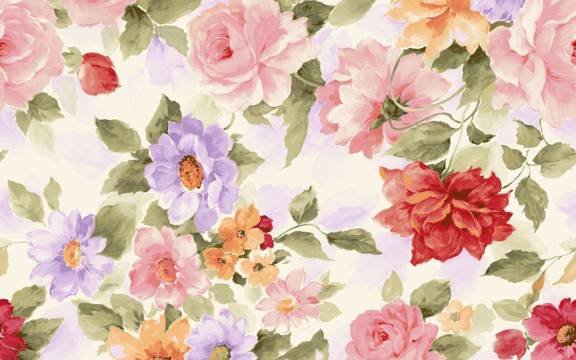 Watercolor Flowers Wallpapers Hd Wallpaper Collections