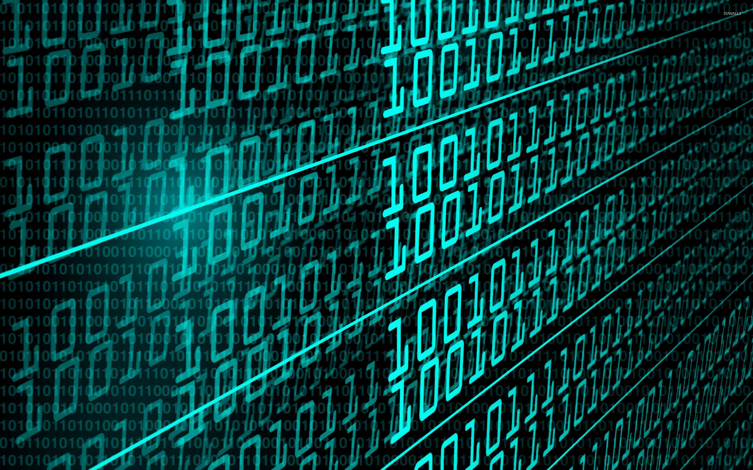Res: 2560x1600, Binary code wallpaper
