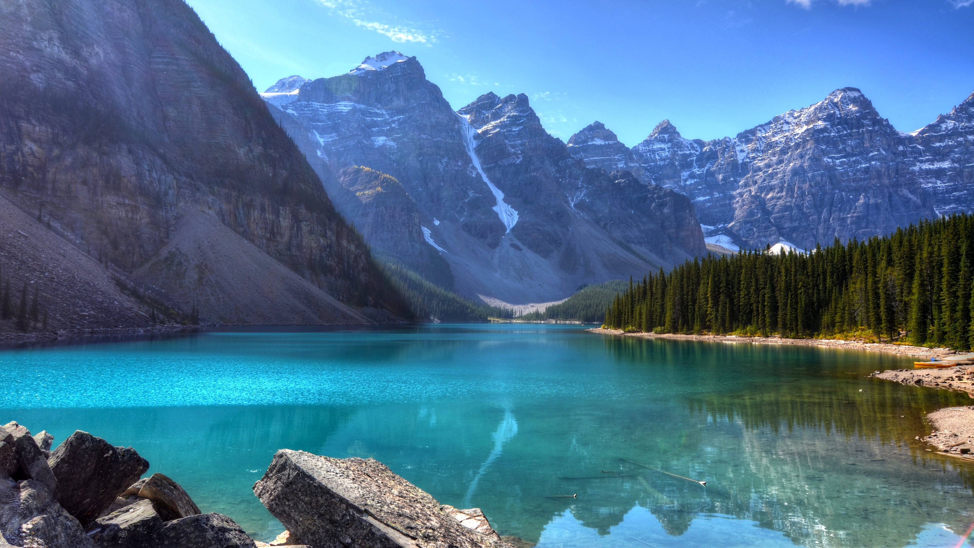 Res: 3840x2160, Moraine Lake 4K Ultra HD Wallpaper 4878x3225 768x432