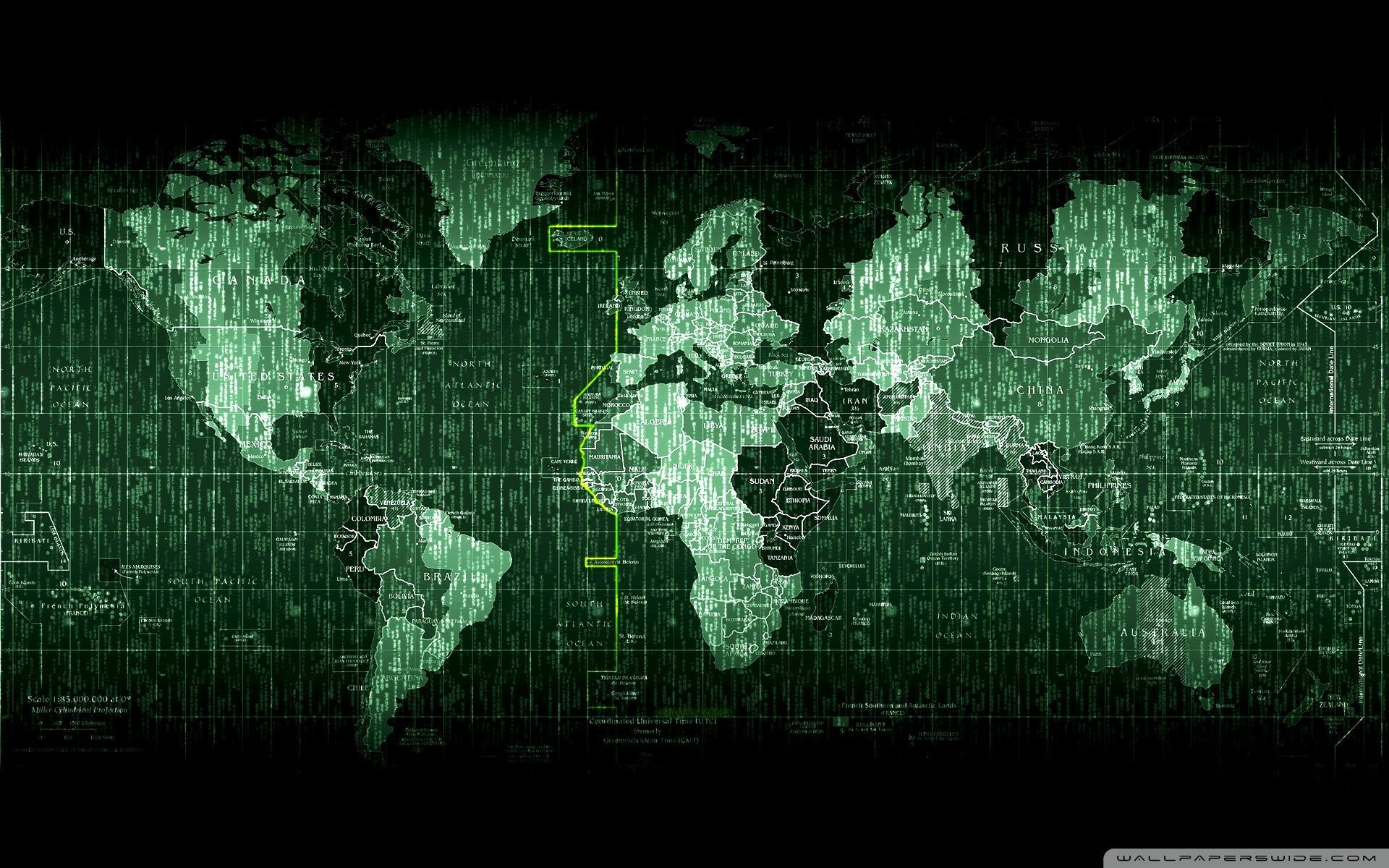 Res: 1920x1200, Matrix Code World Map ❤ 4K HD Desktop Wallpaper for 4K Ultra HD .