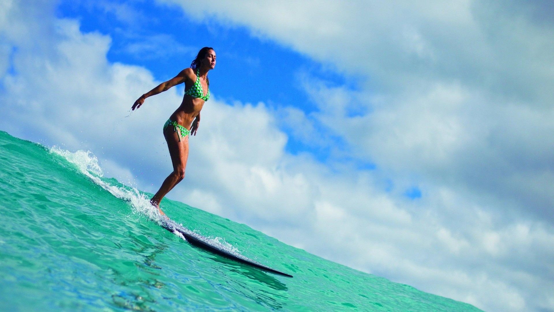 Res: 1920x1080, Surfing Girl HD Wallpaper 7 whb #SurfingGirlHDWallpaper #SurfingGirl # Surfing #Girls #babes