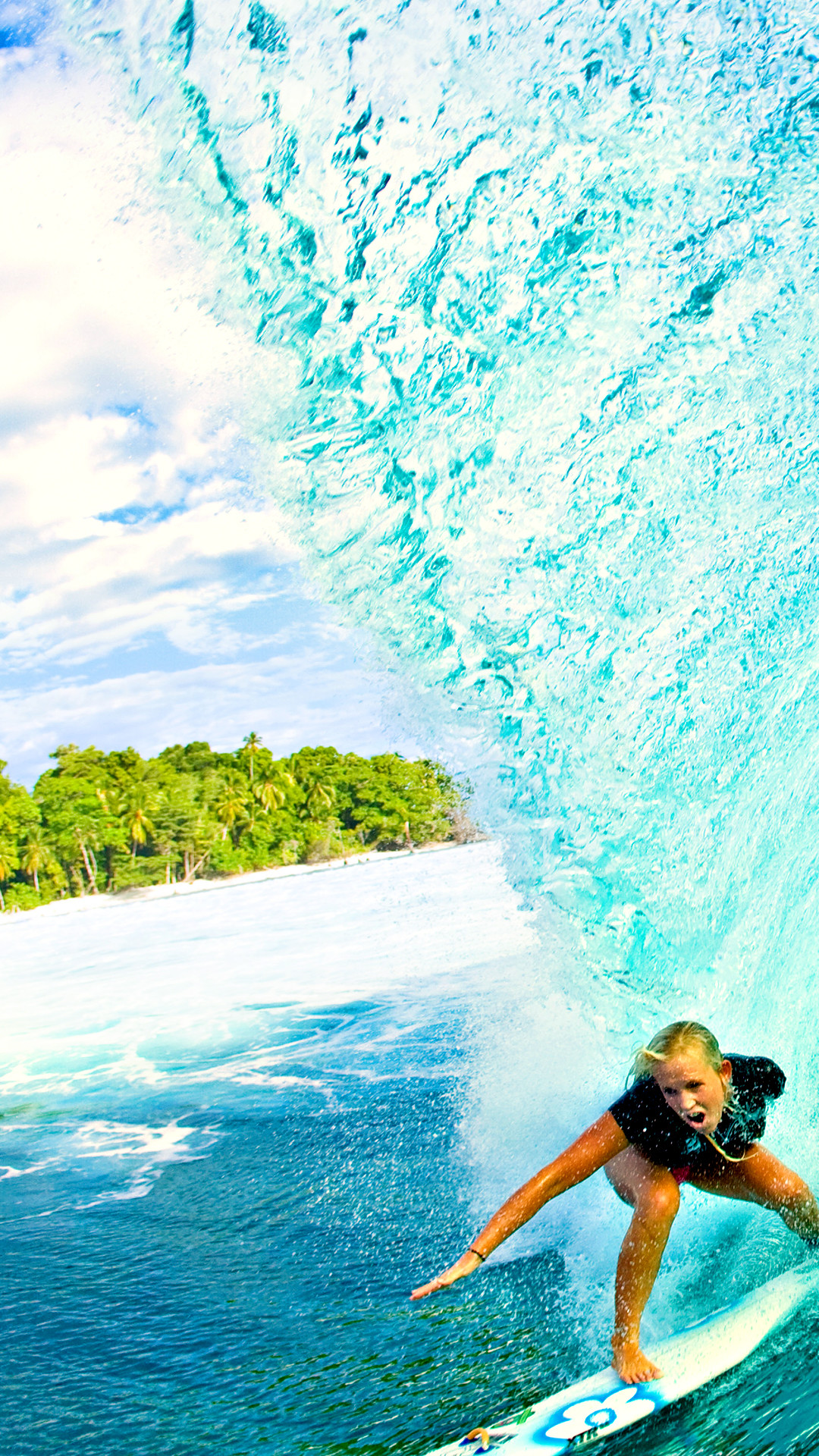 Res: 1080x1920, Download · Surfer Girl Phone Wallpaper