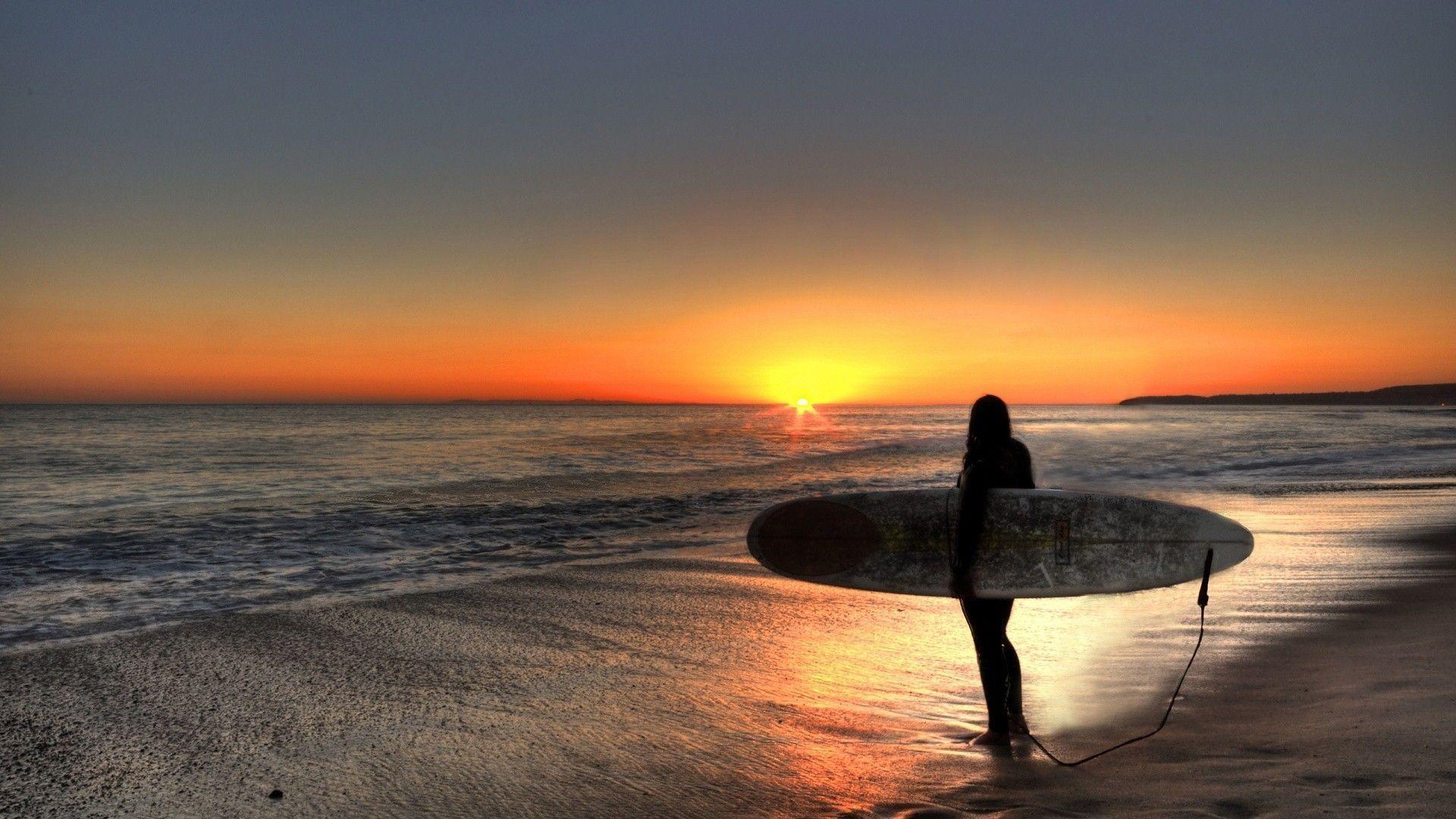 Res: 1920x1080, Sport: Sunset Surfer Beach, surfer haircut, surfer's journal .
