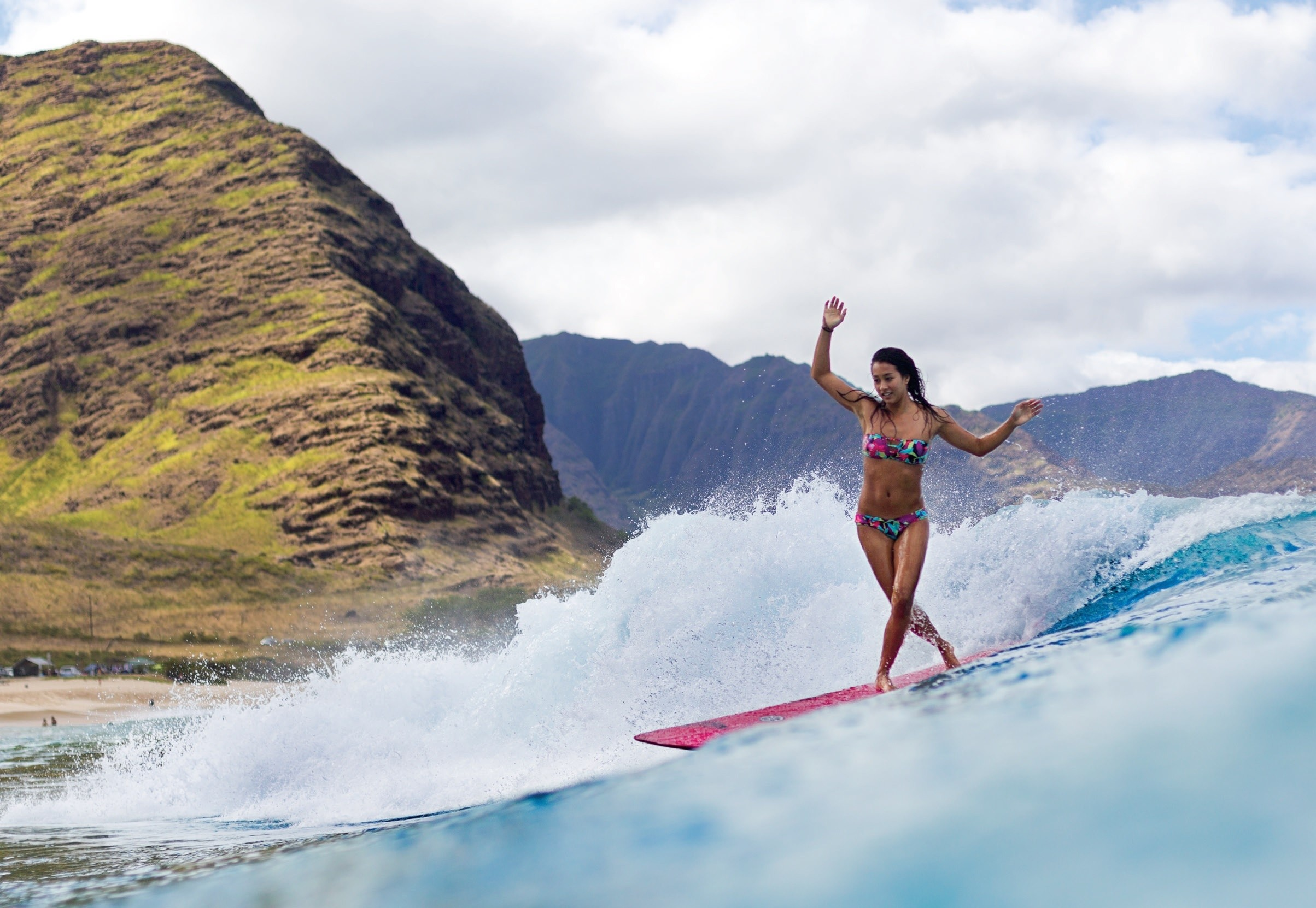 Res: 2407x1662, Surfer Girl - Oceans & Nature Background Wallpapers on Desktop .