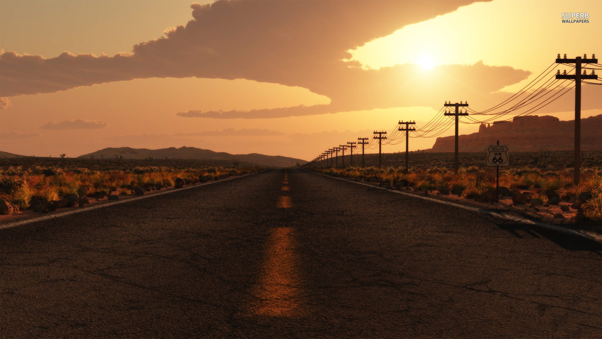 Res: 1920x1080, Route 66