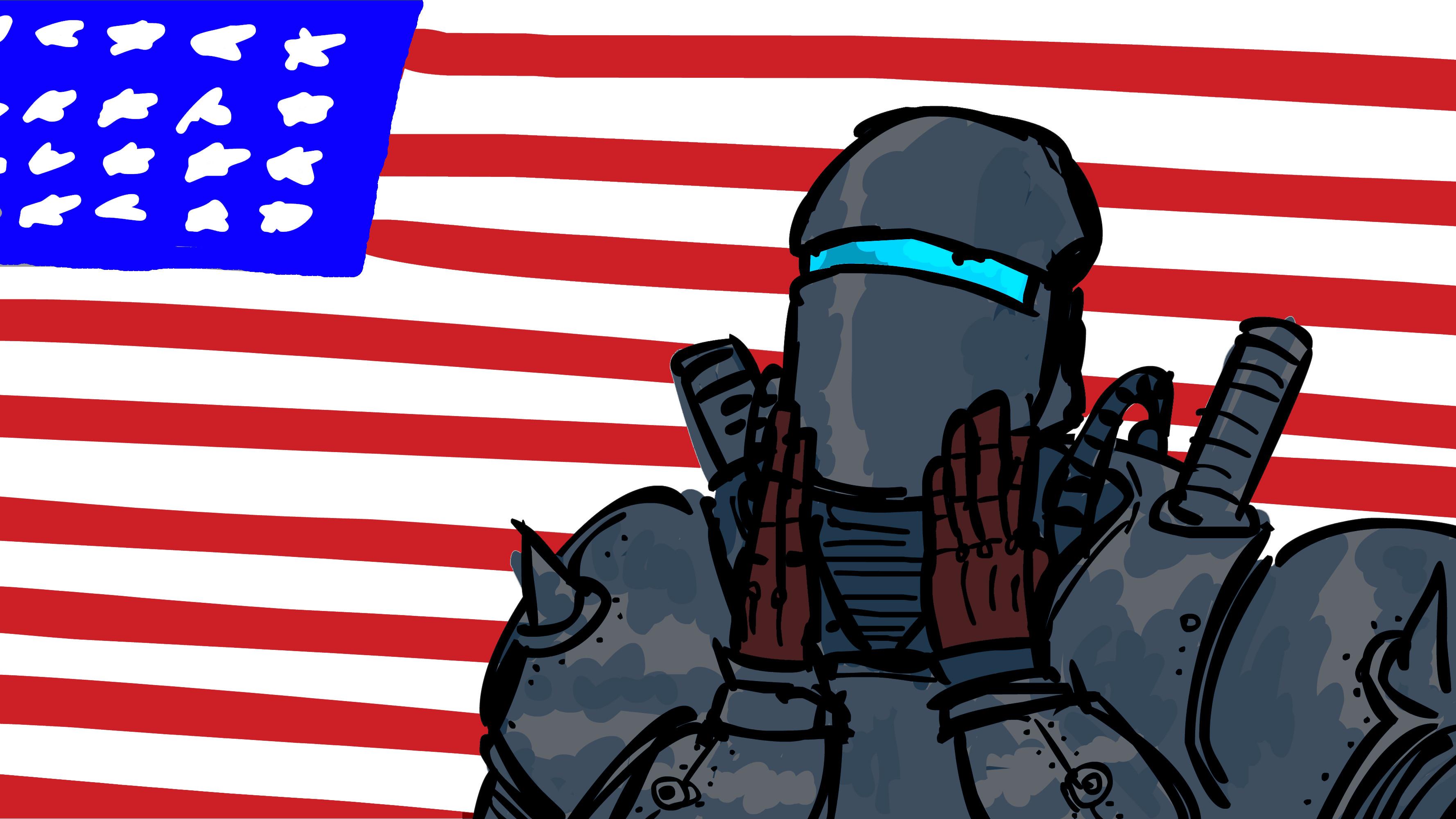 Res: 3556x2000, Liberty Prime (i.redd.it)