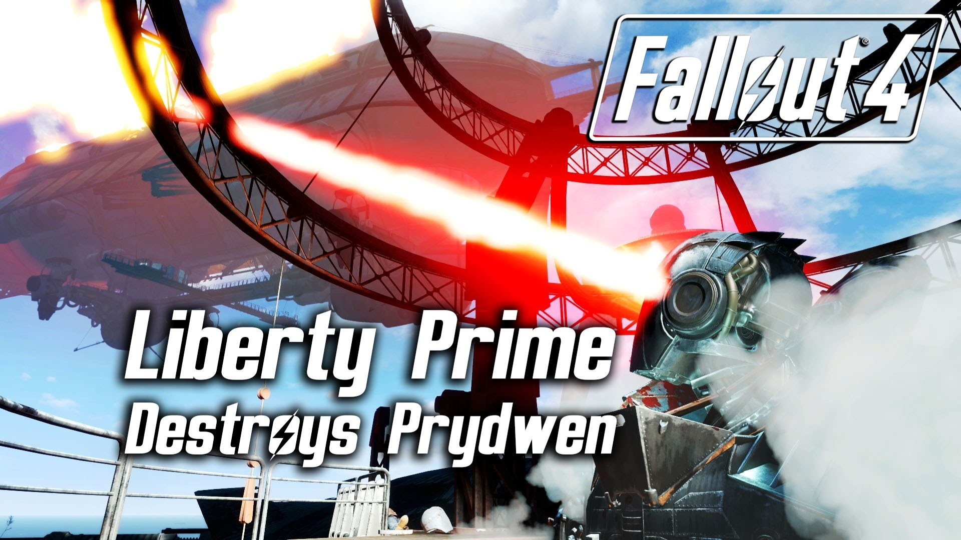 Res: 1920x1080, Fallout 4 - Liberty Prime destroys The Prydwen via her dual eye lasers -  YouTube