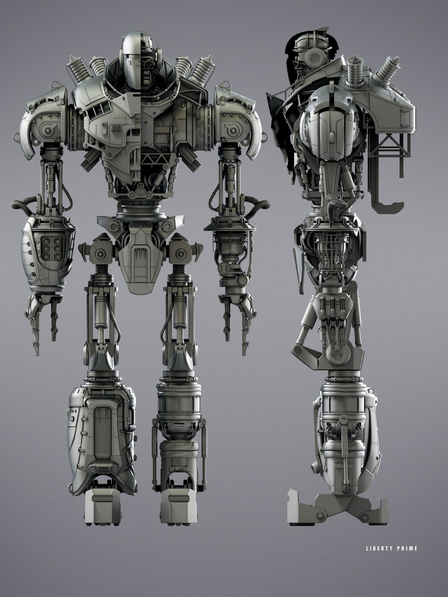 Res: 1536x2044, Fallout 4 | Concept Liberty Prime