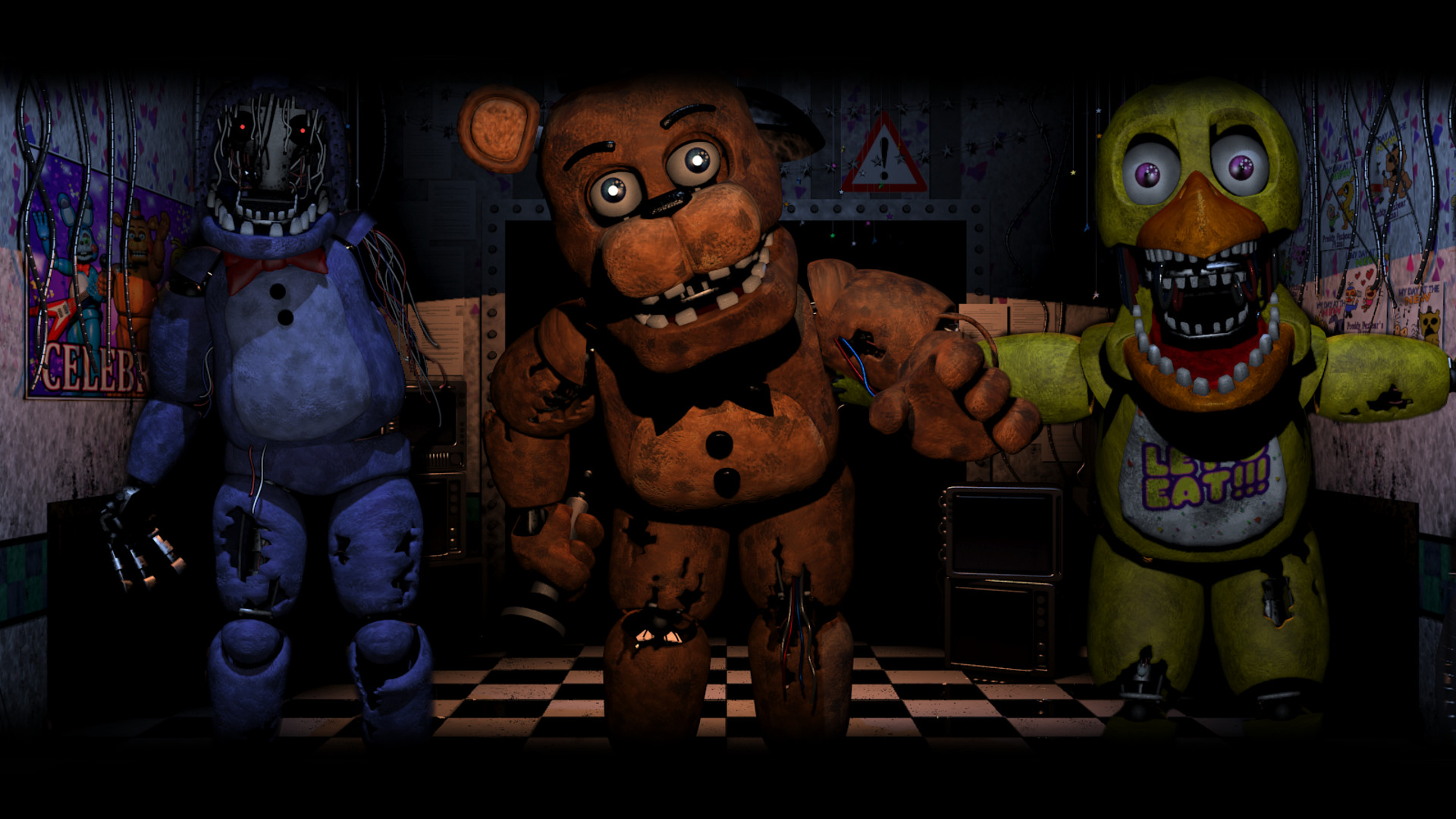 Res: 1920x1080, Old Gang ( Five Nights At Freddy's 2 Wallpaper) by BloodyHorrible