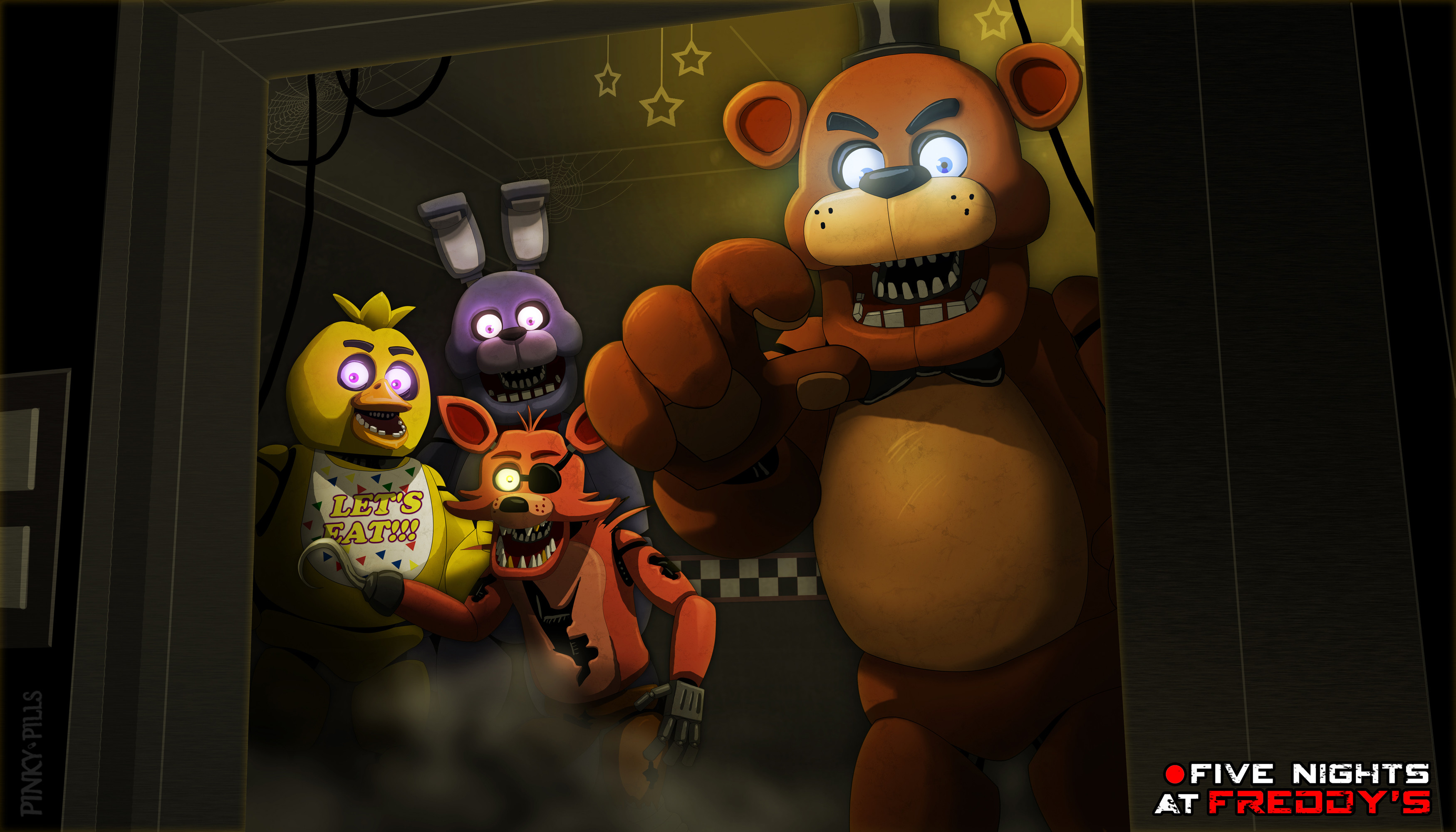 Res: 3500x2000, FNaF1 Wallpaper by PinkyPills FNaF1 Wallpaper by PinkyPills