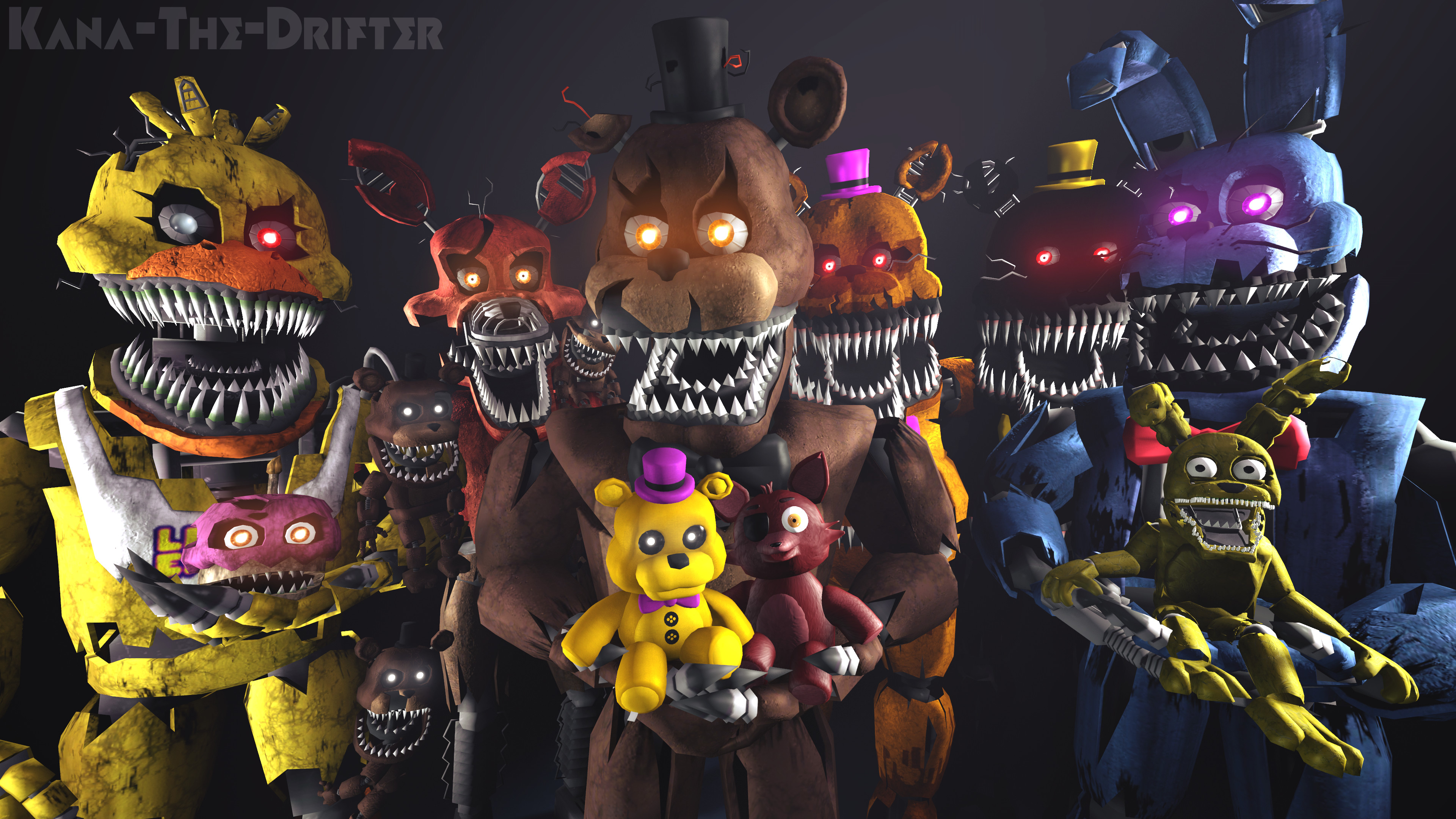 Res: 3840x2160, We All Are Still Your Friends (FNAF SFM Wallpaper) by Kana-The-