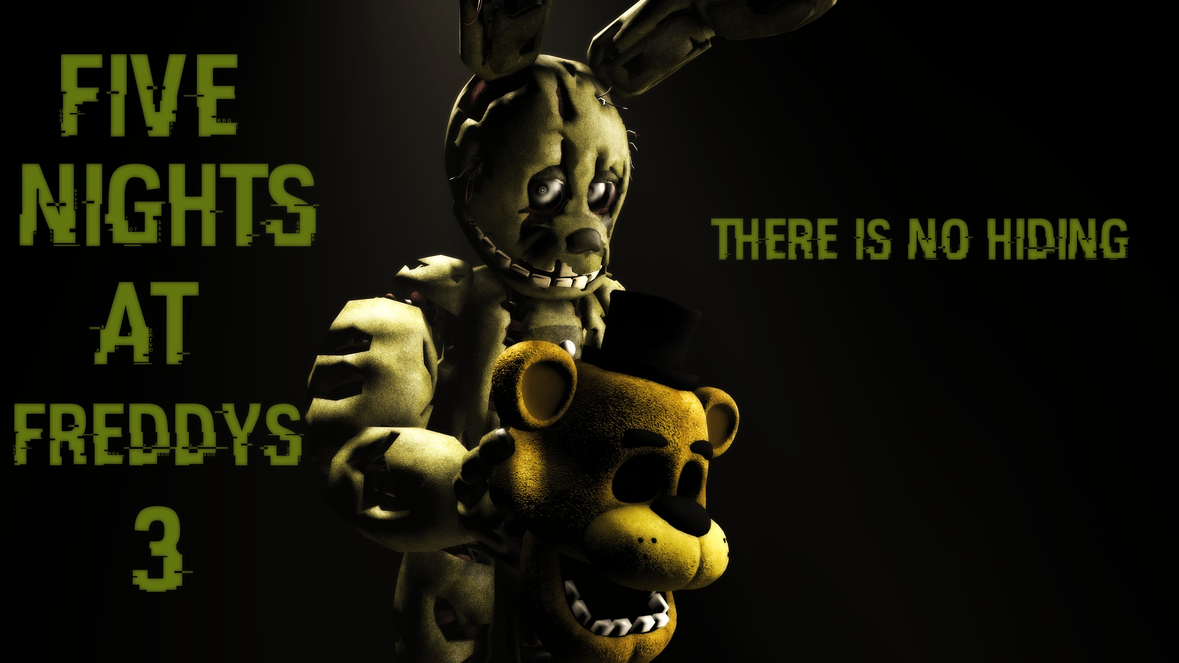 Res: 3840x2160, ... Five Nights At Freddy's 3 Wallpaper by boatfullogoats