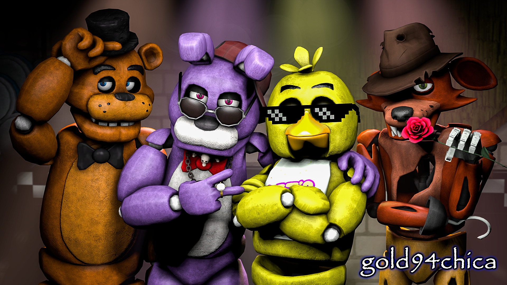 Res: 1920x1080, ... Epic Friends Forever (FNAF SFM Wallpaper) by gold94chica