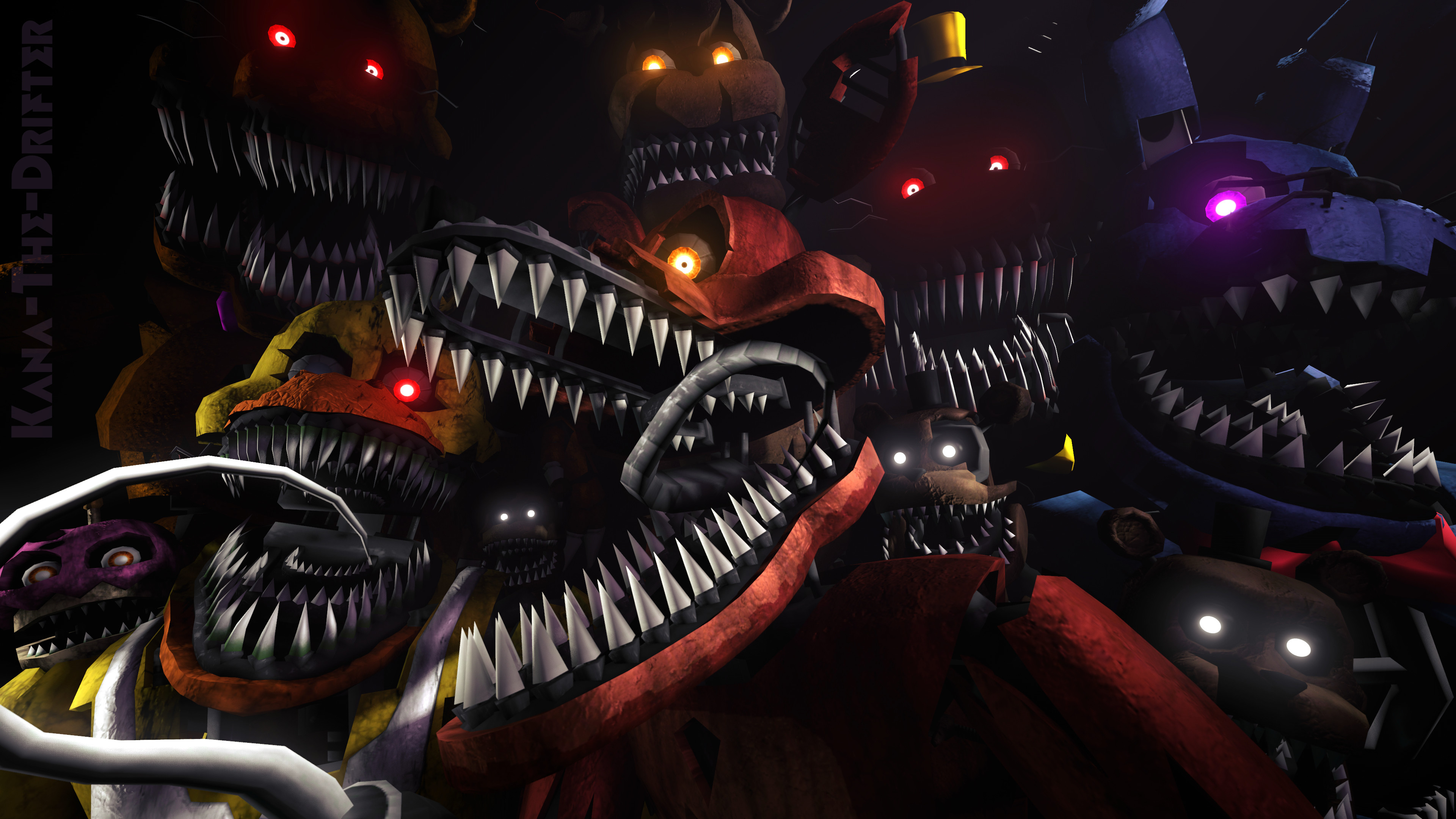 Res: 3840x2160, We'll Stay Here Forever (FNAF SFM Wallpaper) by Kana-The-
