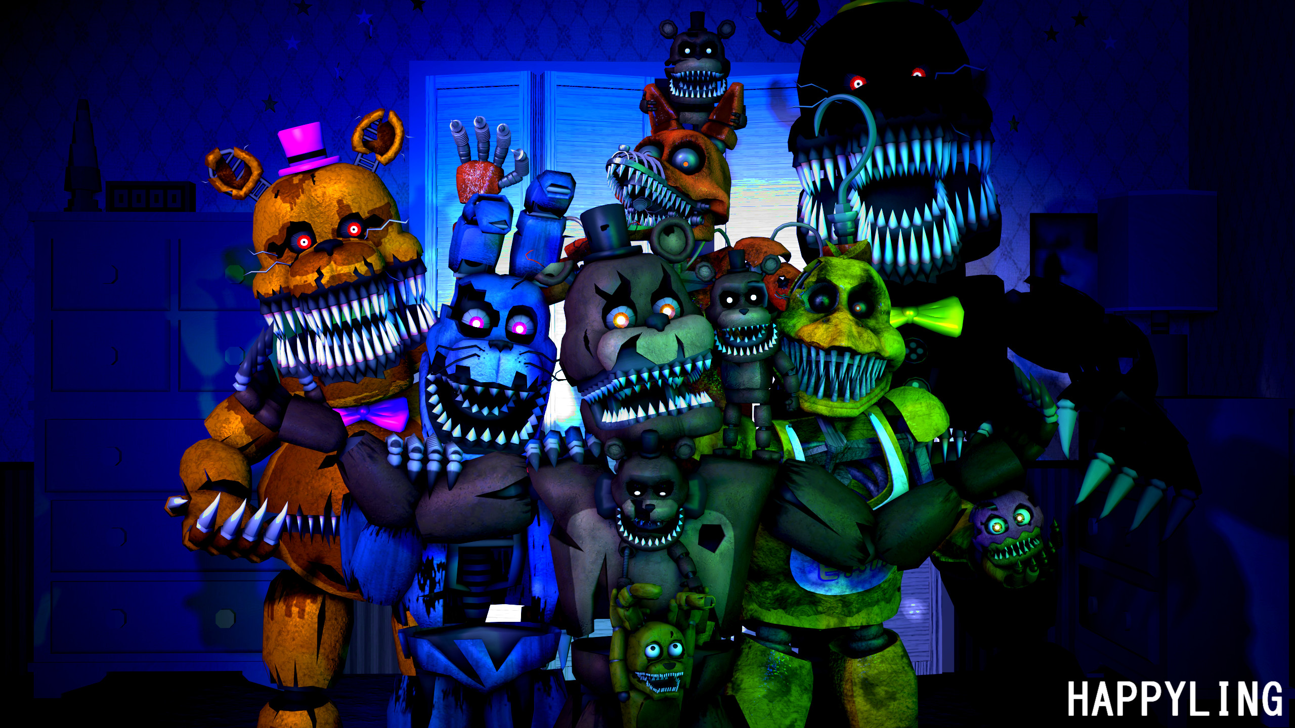 Res: 2560x1440, ... FNAF] Five nights at Freddy's 4 by Happyling