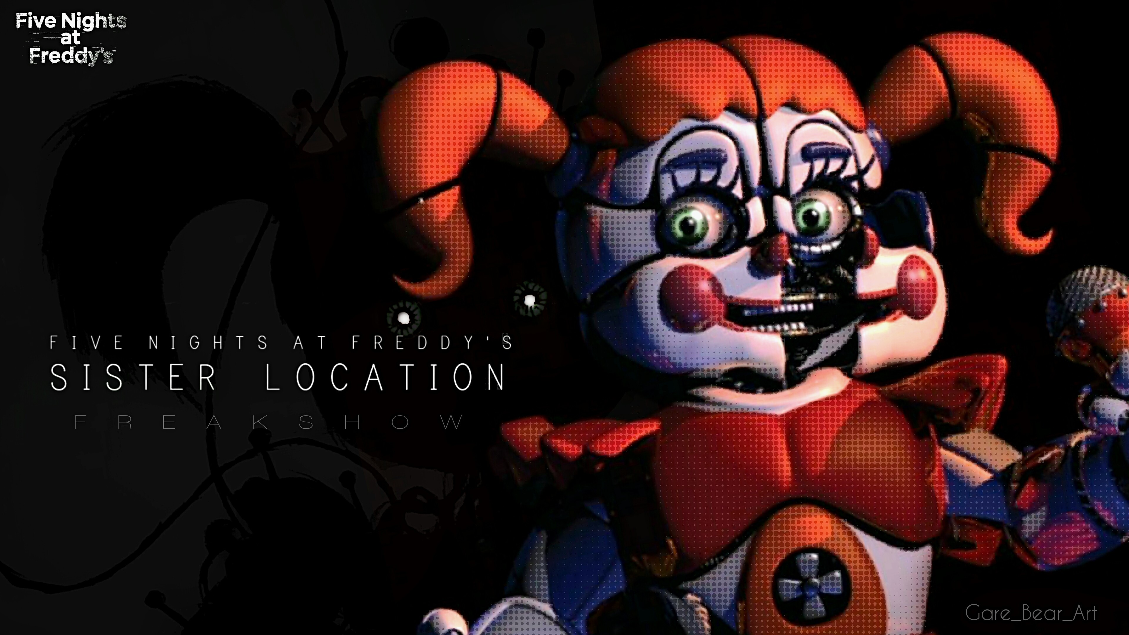 Res: 3840x2160, Fnaf sister location wallpaper BABY freak show by GareBearArt1