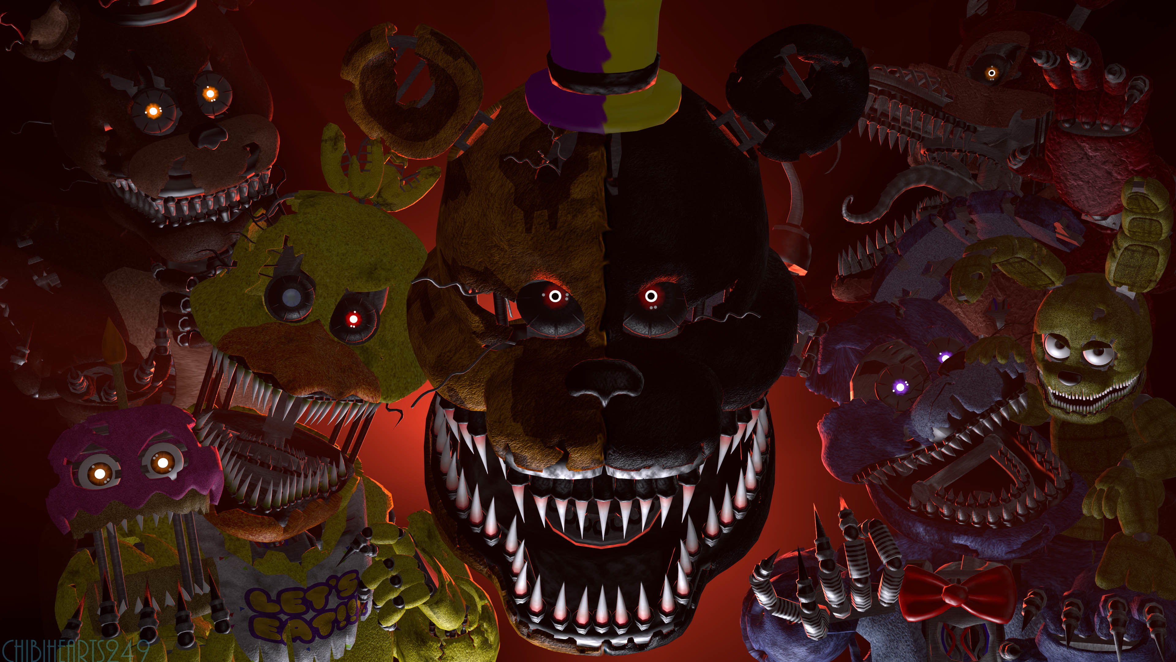 Res: 3840x2160, fnaf spoopy sfm poster