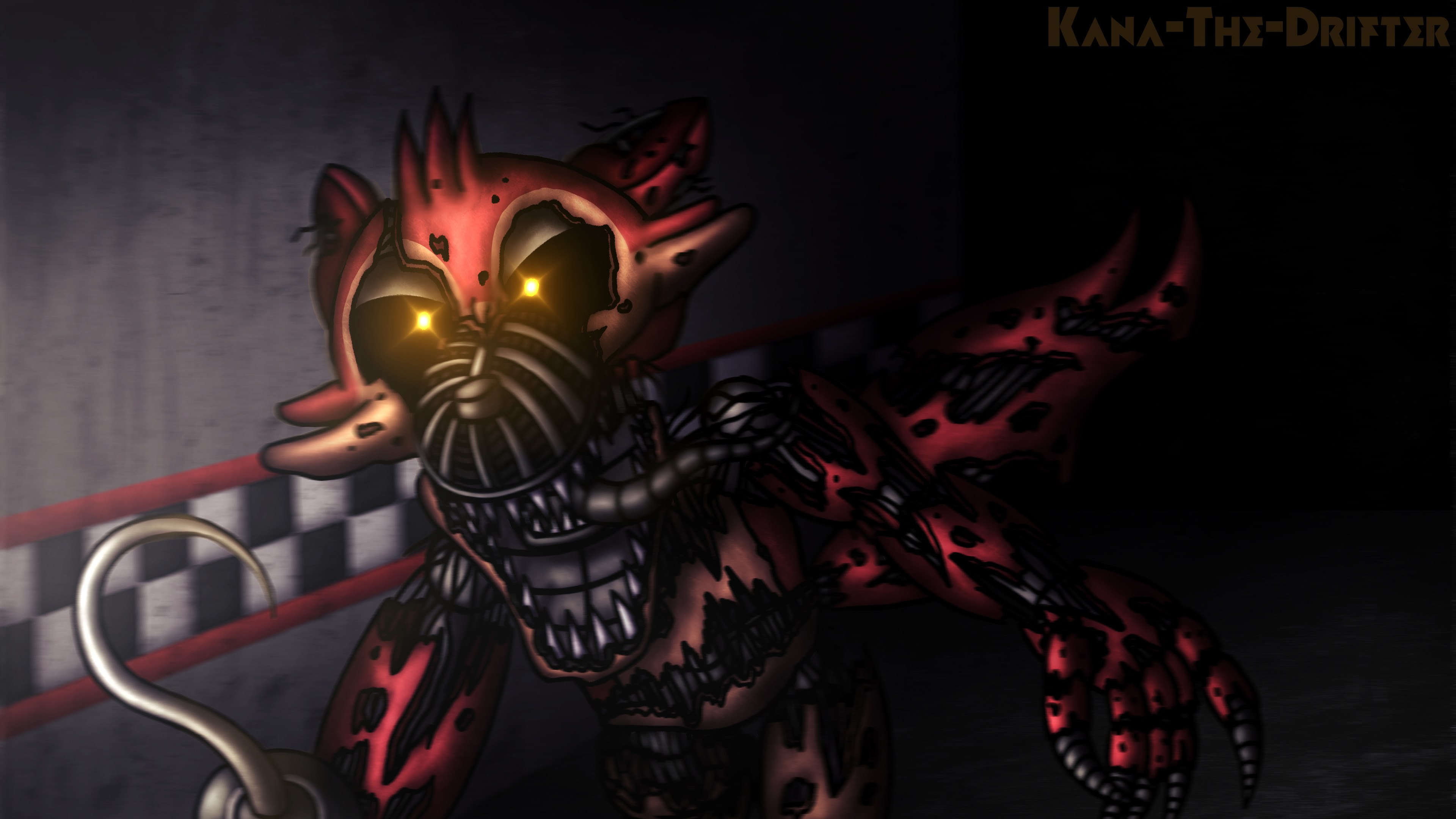Res: 3840x2160, Don't Even Try To Escape (4K FnaF Wallpaper) by Kana-The