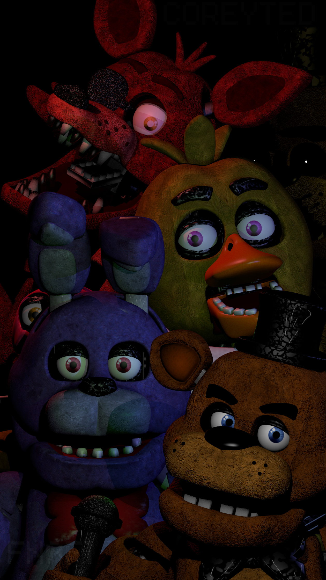 Res: 1260x2240, ... FNAF Phone WallPaper - Free To Use! by TangoTeds
