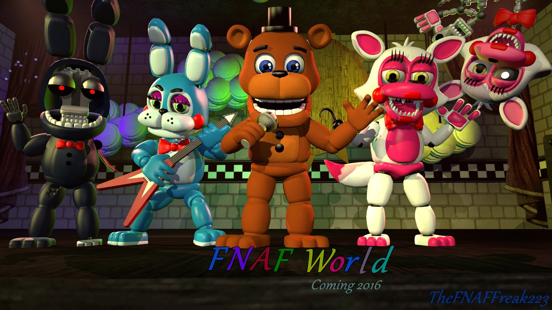 Res: 1920x1080, Incredible Pictures Collection: Fnaf World Desktop Wallpapers