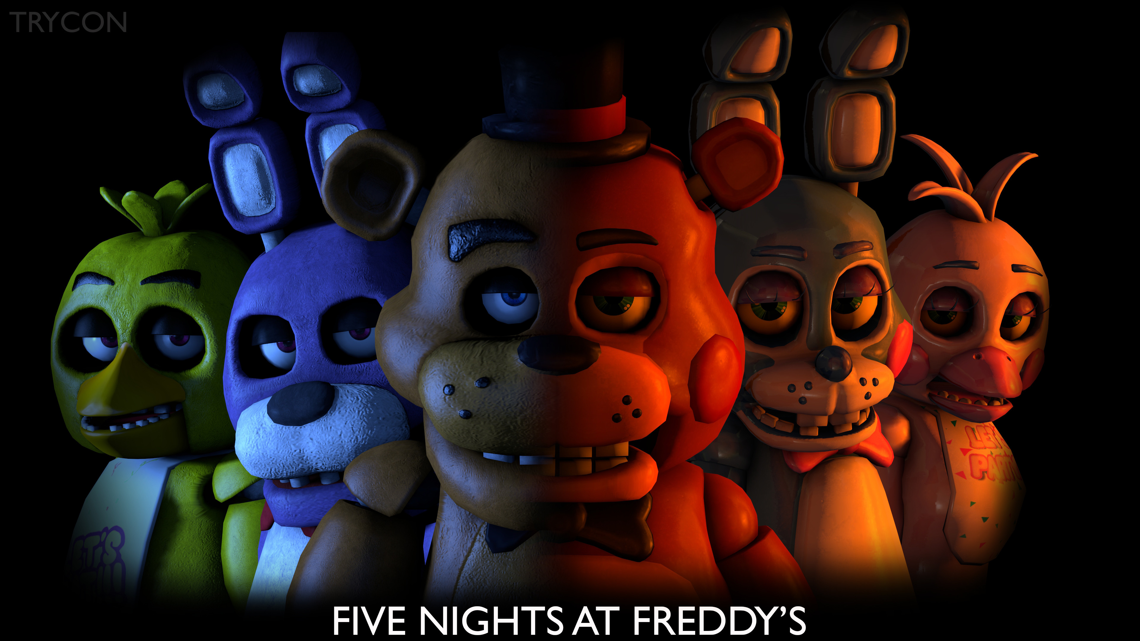 Res: 3840x2160, ... Five Nights at Freddy's Banner by Trycon1980
