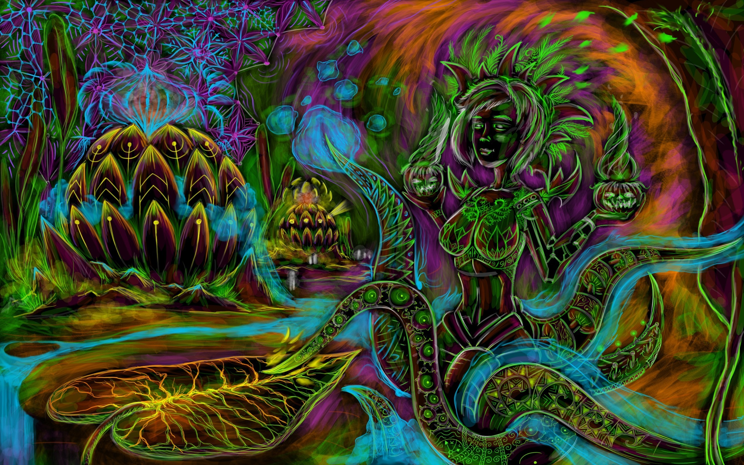 Res: 2560x1600, Art & Creative Wallpapers. Download the following Trippy Shroom ...