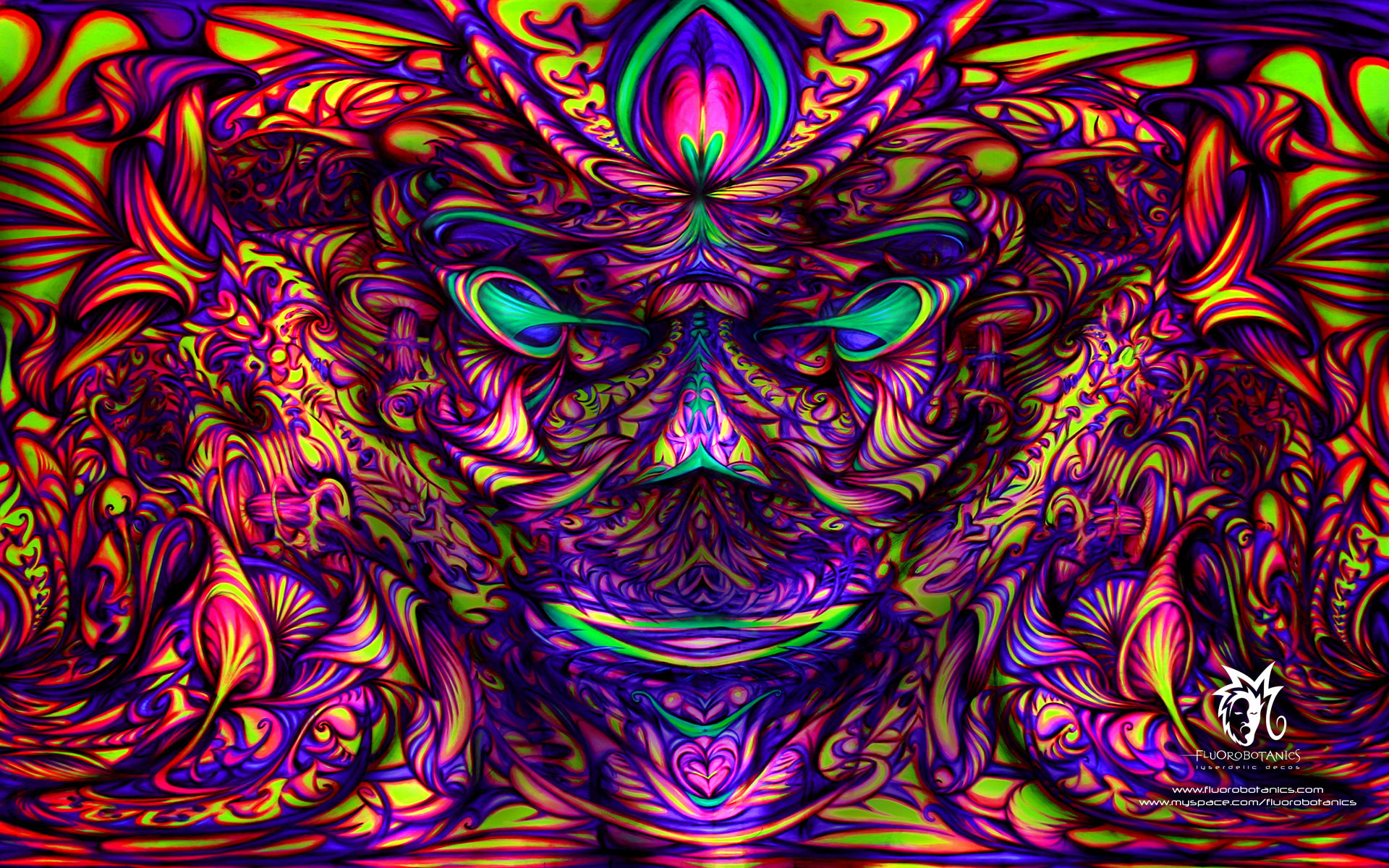 Res: 1920x1200, Art & Creative Wallpapers. Download the following Trippy Shroom ...