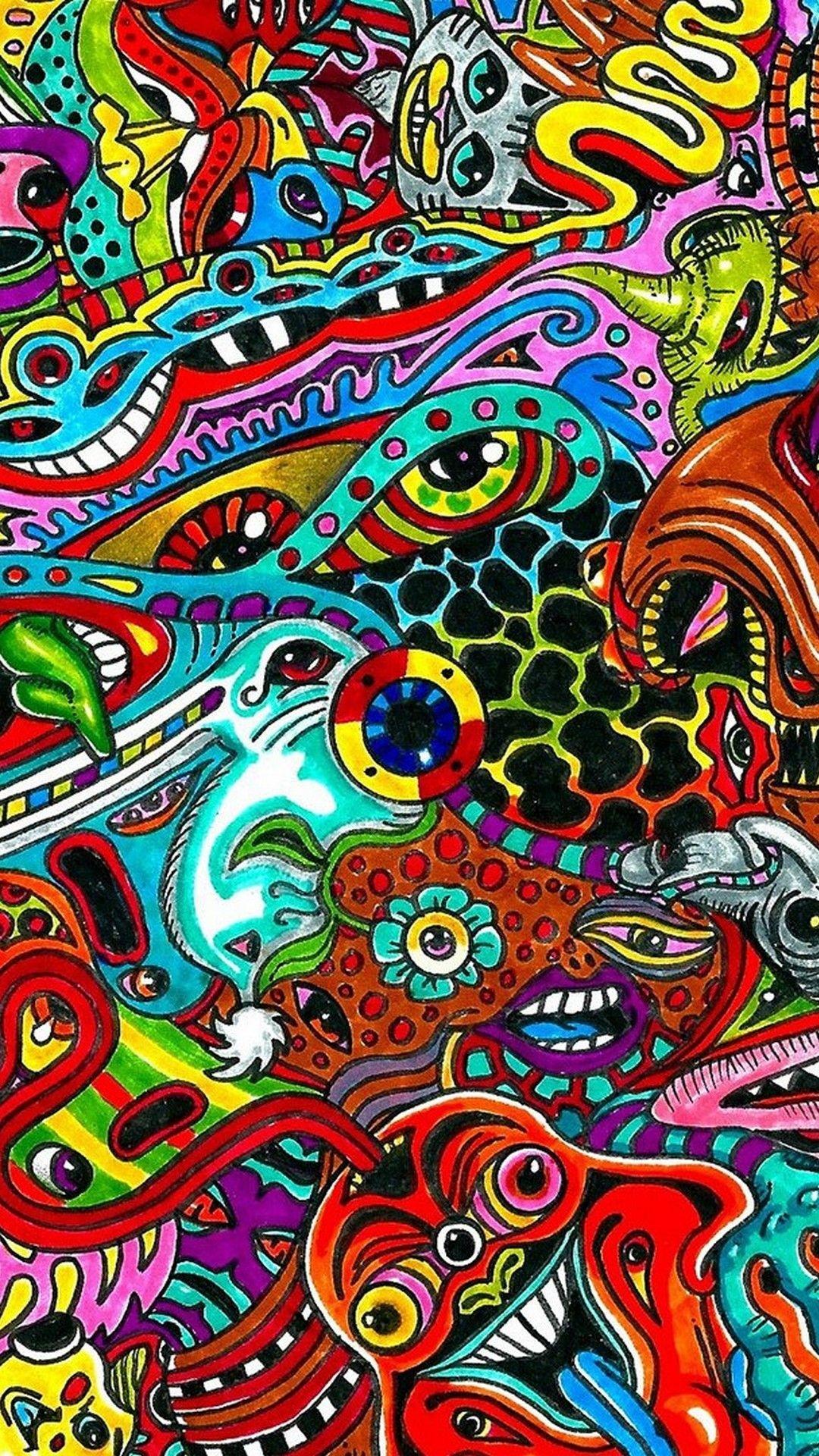 Res: 1080x1920, iPhone 7 Wallpaper Psychedelic - Best iPhone Wallpaper