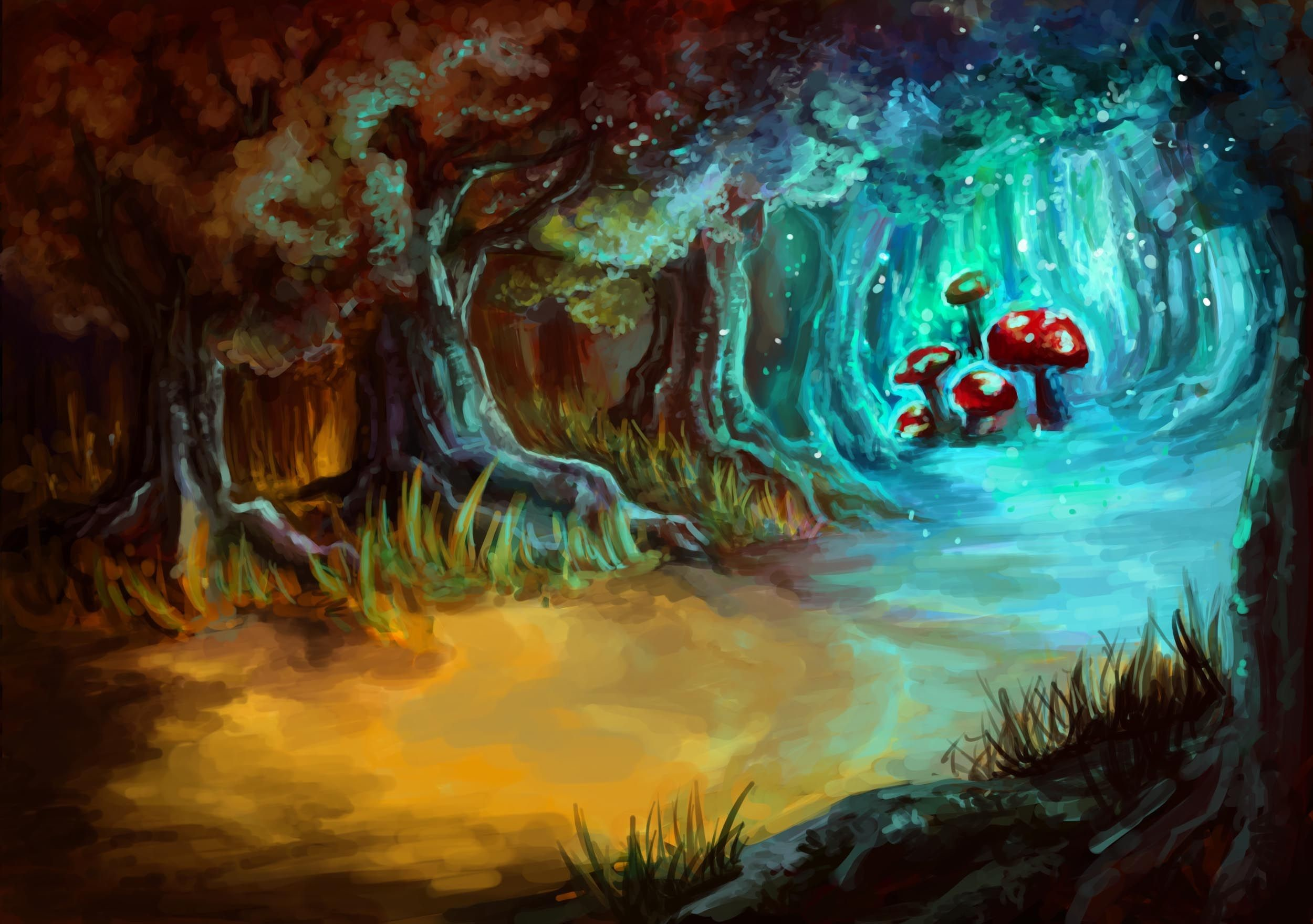Res: 2500x1759, DeviantArt: More Like magic mushrooms-completed by tsepei