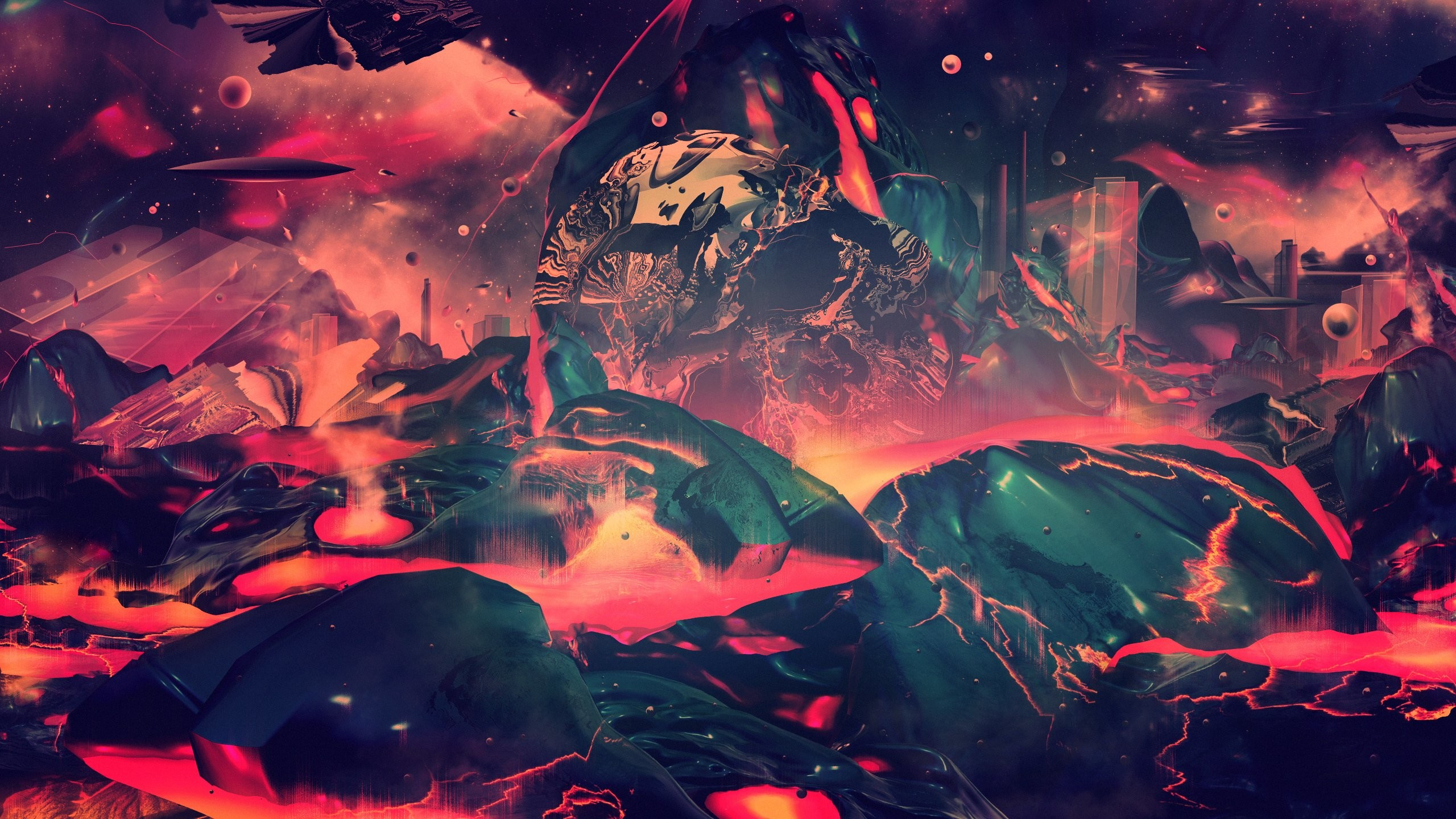 Res: 2560x1440, psychedelic fire