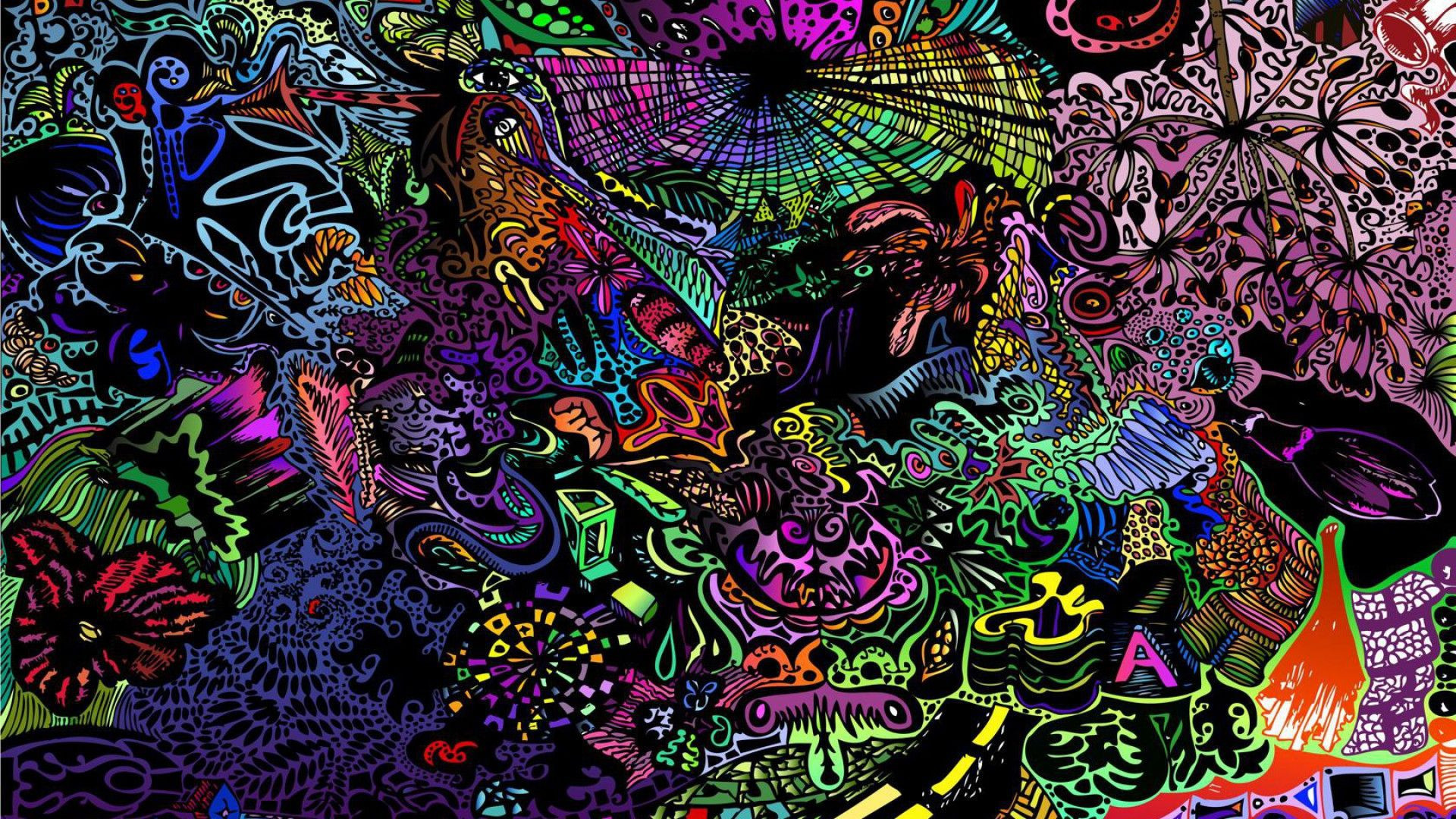 Res: 1920x1080, Desktop Wallpaper Psychedelic Art Illuminati Wallpaper Tumblr Google Da Ara  Trippy
