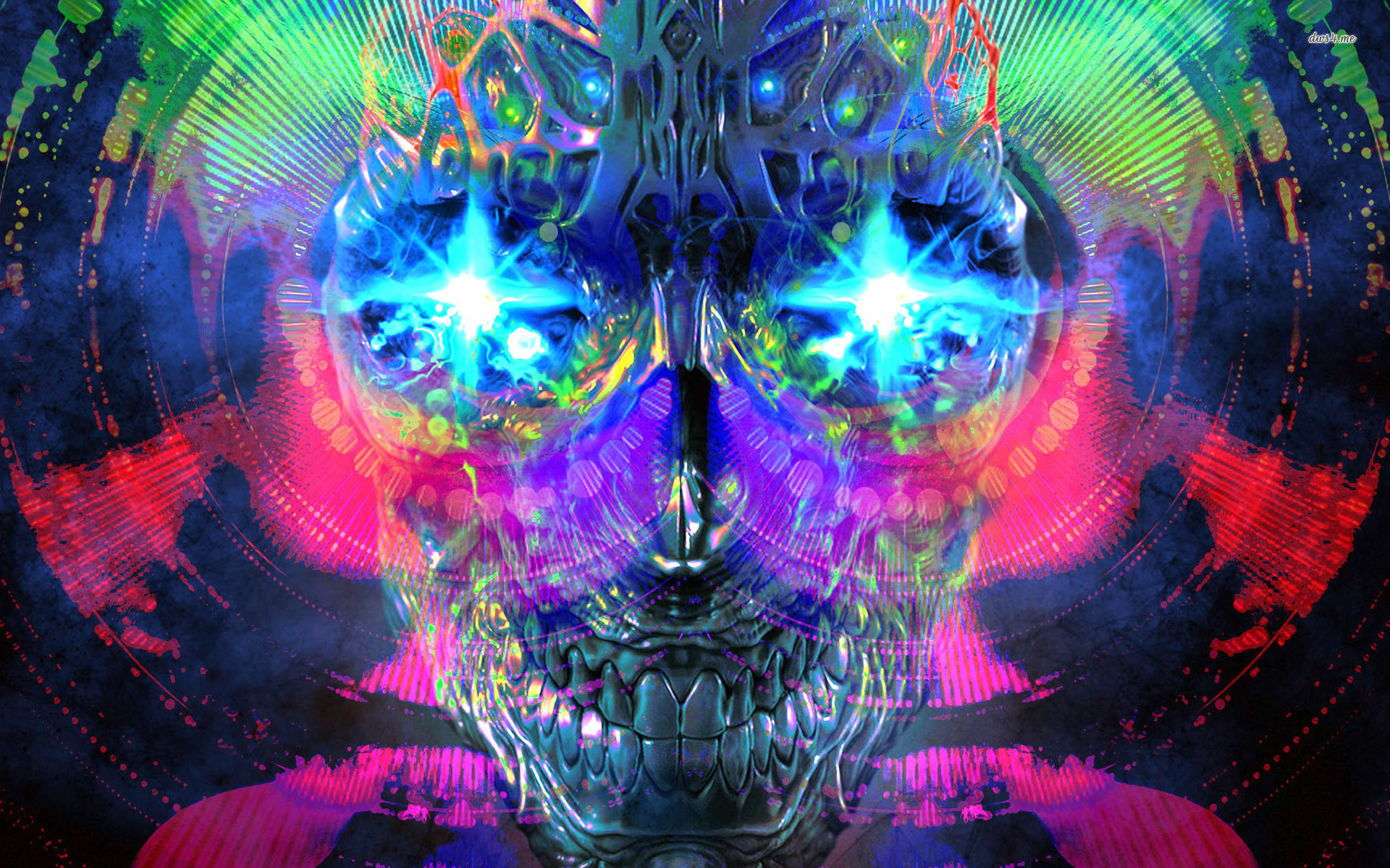 Res: 1920x1200, ... Psychedelic skull wallpaper  ...