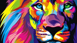 Colorful Lion wallpapers