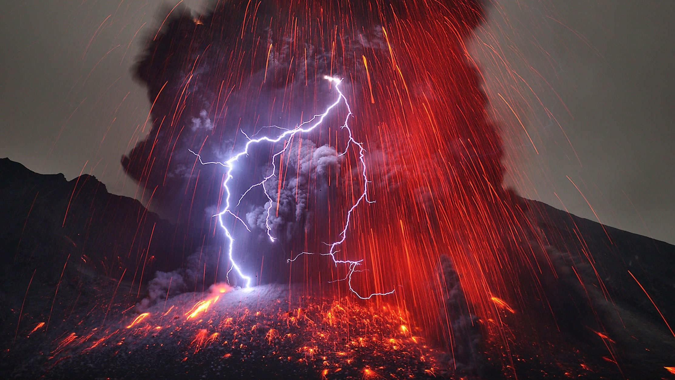 Res: 2225x1253, Volcanic Lightning Desktop Image HD Desktop Wallpaper, Background Image