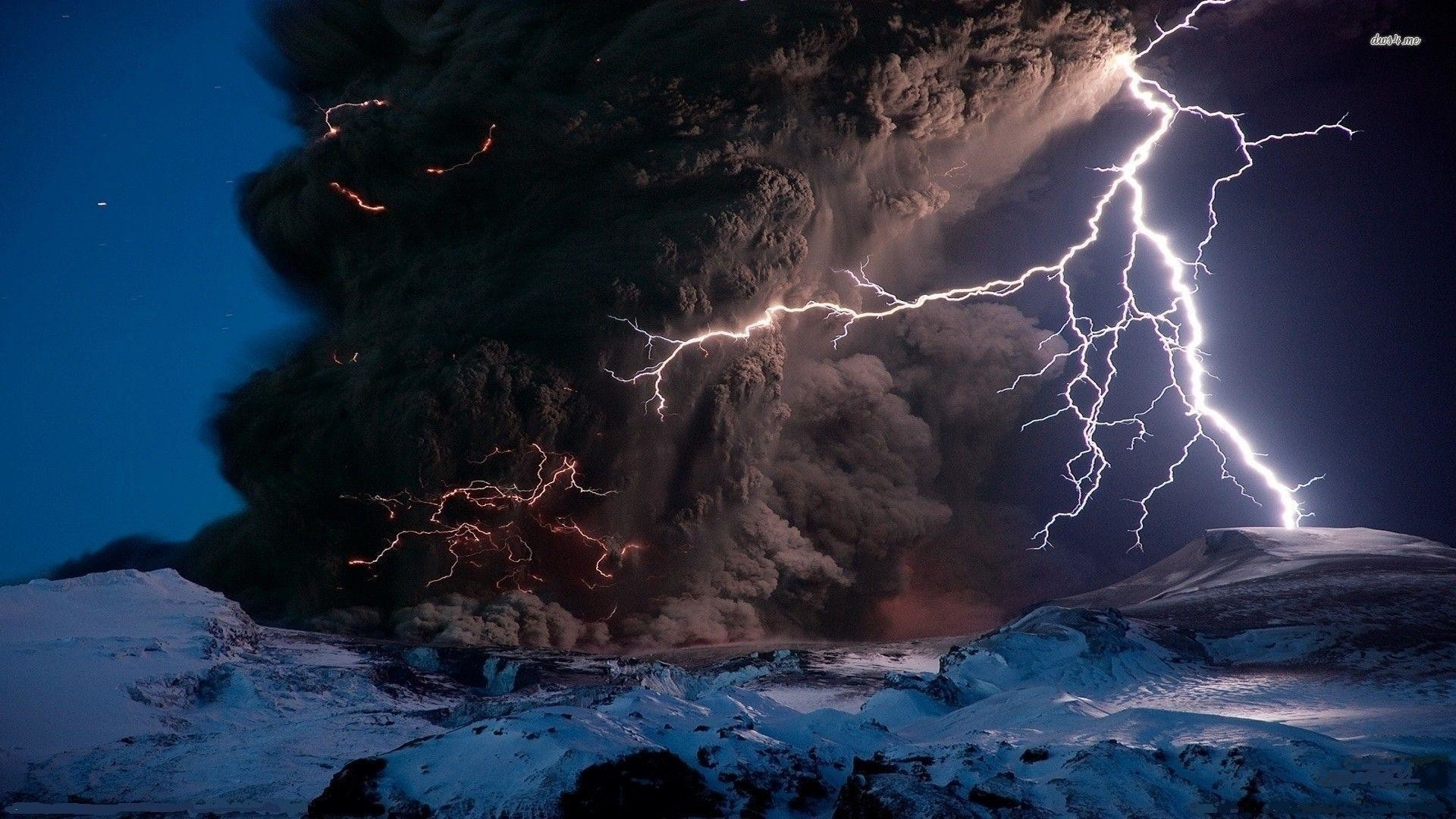 Res: 1920x1080, Nature Wallpapers. Download the following Volcanic Lightning ...