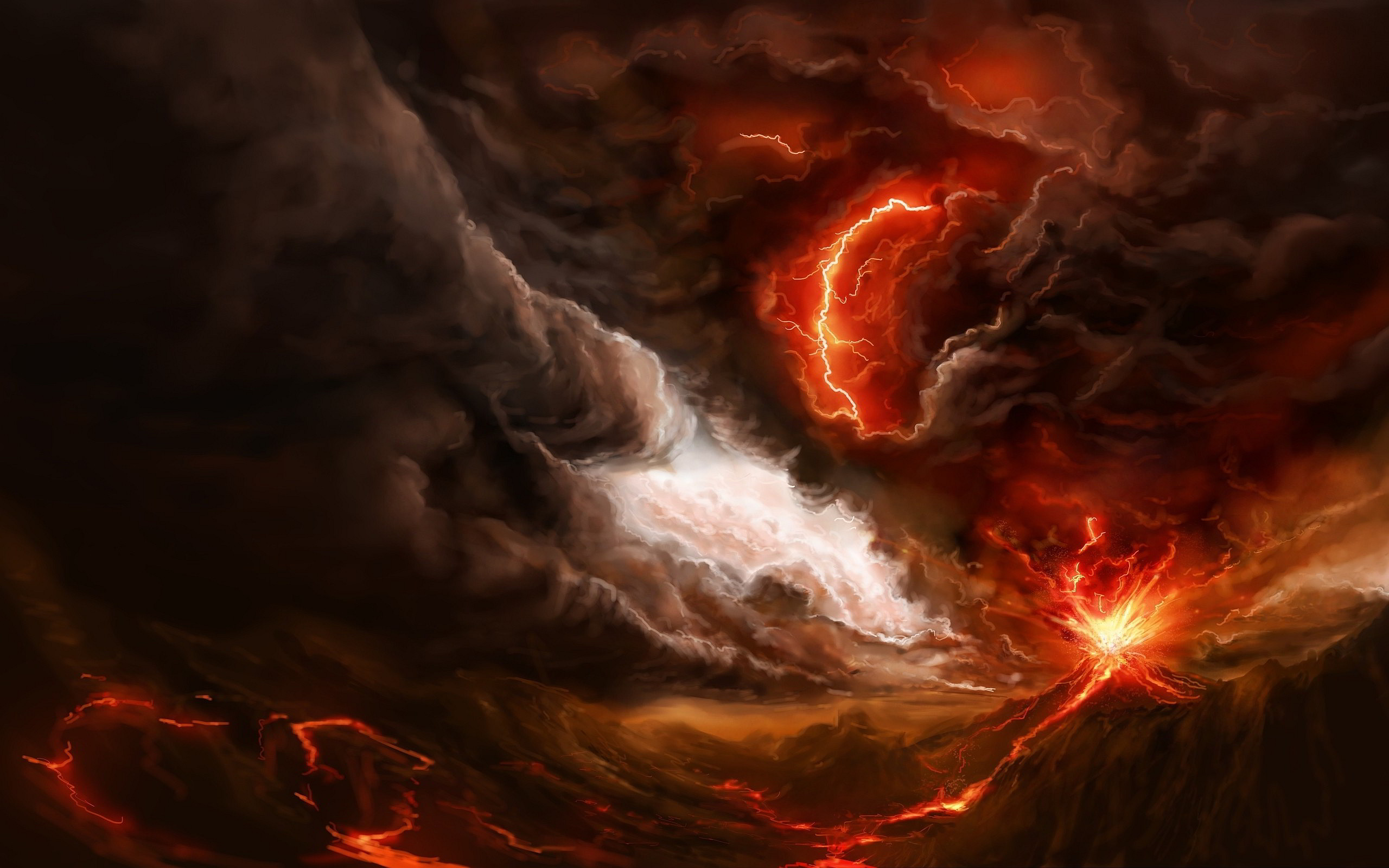 Res: 2560x1600, Volcano Eruption HD Wallpapers