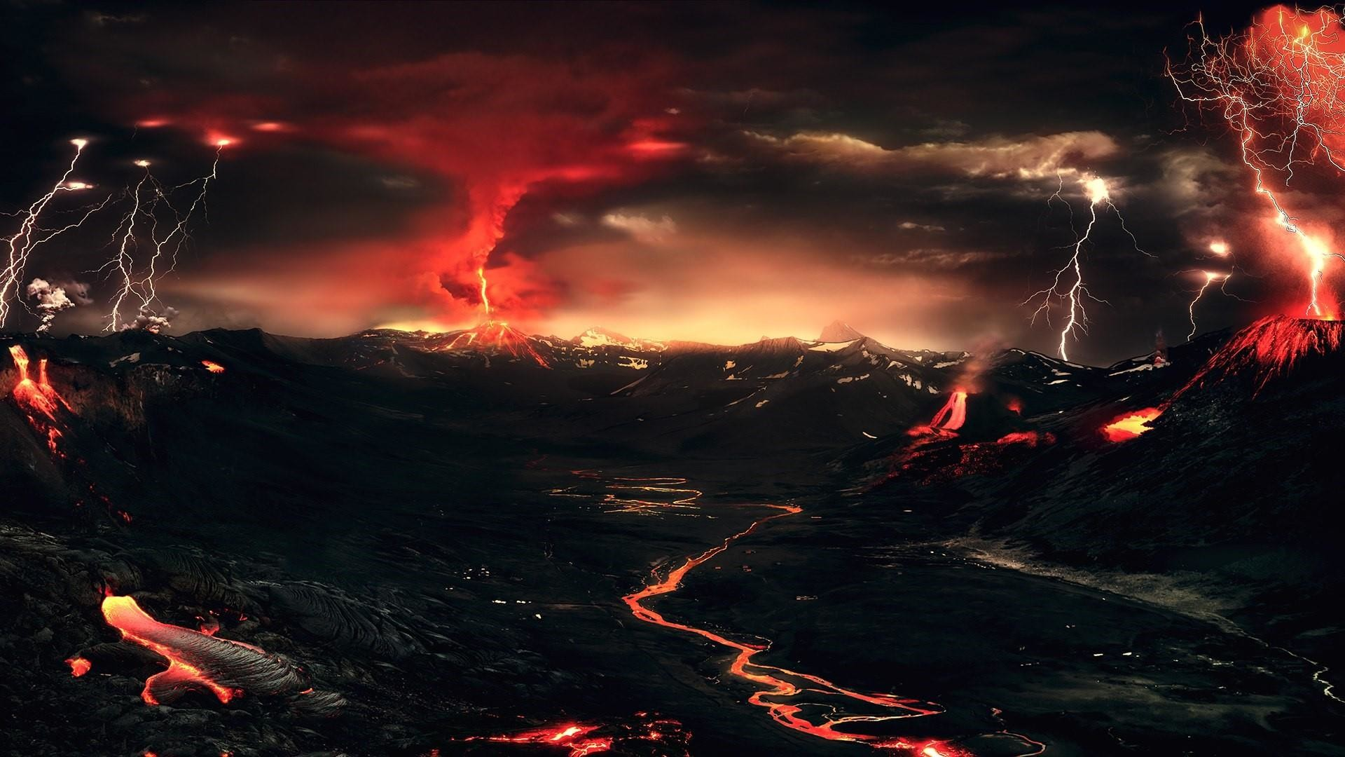 Res: 1920x1080, Volcanic Landscape Wallpaper   Wallpaper Studio 10   Tens of thousands HD  and UltraHD wallpapers for Android, Windows and Xbox