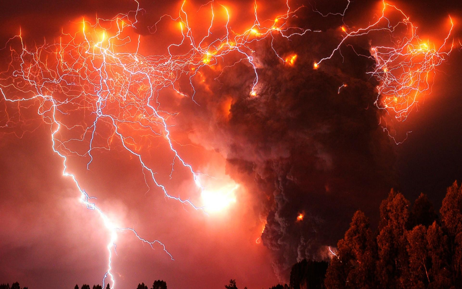 Res: 1920x1200, Volcanic lighting comes from volcanic explosions causing an electrical  storm. A dirty thunderstorm, also known as Volcanic lightning, ...
