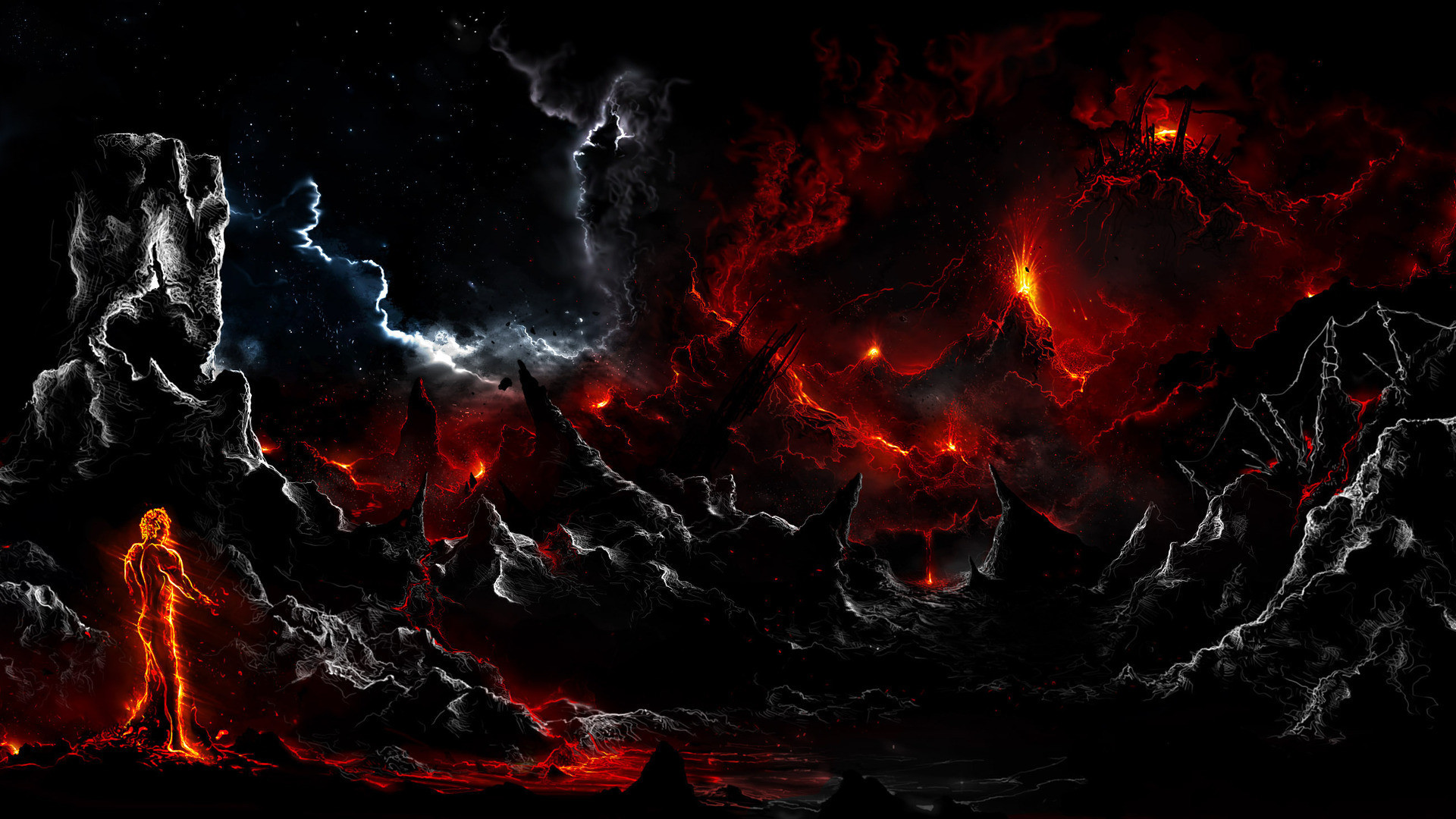 Res: 1920x1080, Volcanic Lightning High Resolution Wallpapers