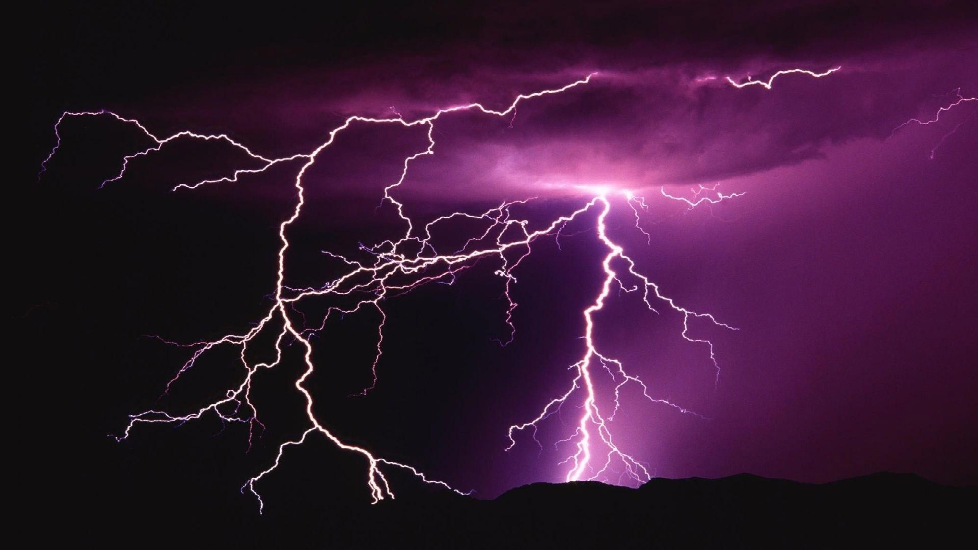 Res: 1920x1080, HD Lightning Storm Image.