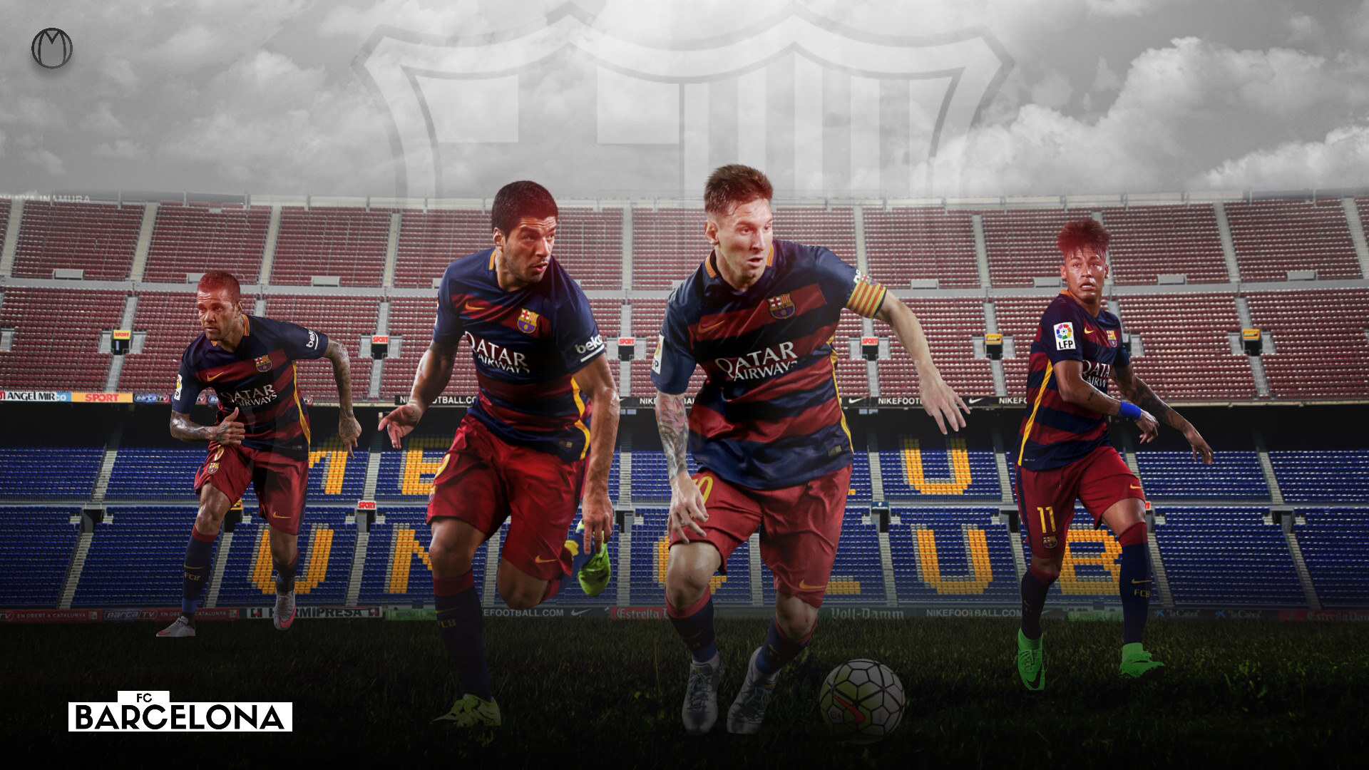 Res: 1920x1080, ... FC Barcelona 2015/2016 Team Wallpaper - Design by MhmdAo