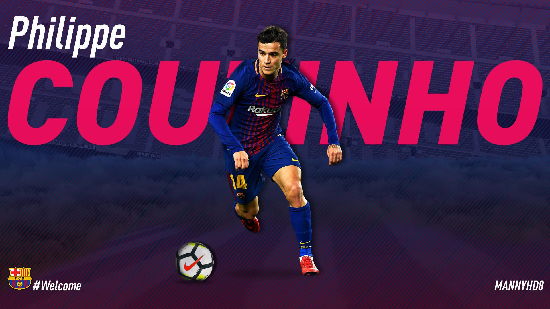 Res: 1920x1080, ... PHILIPPE COUTINHO - FC BARCELONA WALLPAPER by MannyHD29