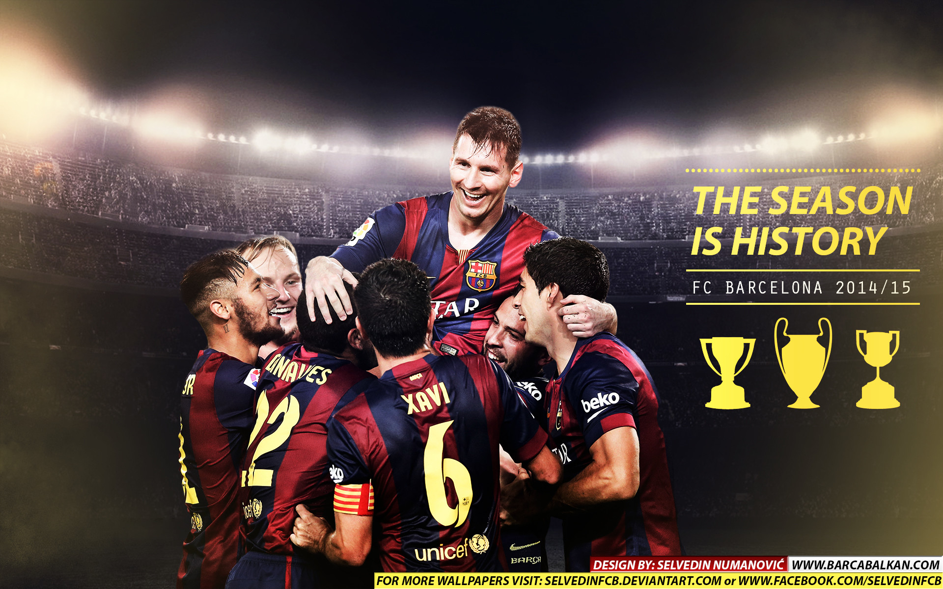 Res: 1920x1200, ... FC Barcelona CHAMPIONS 2015 HD WALLPAPER by SelvedinFCB