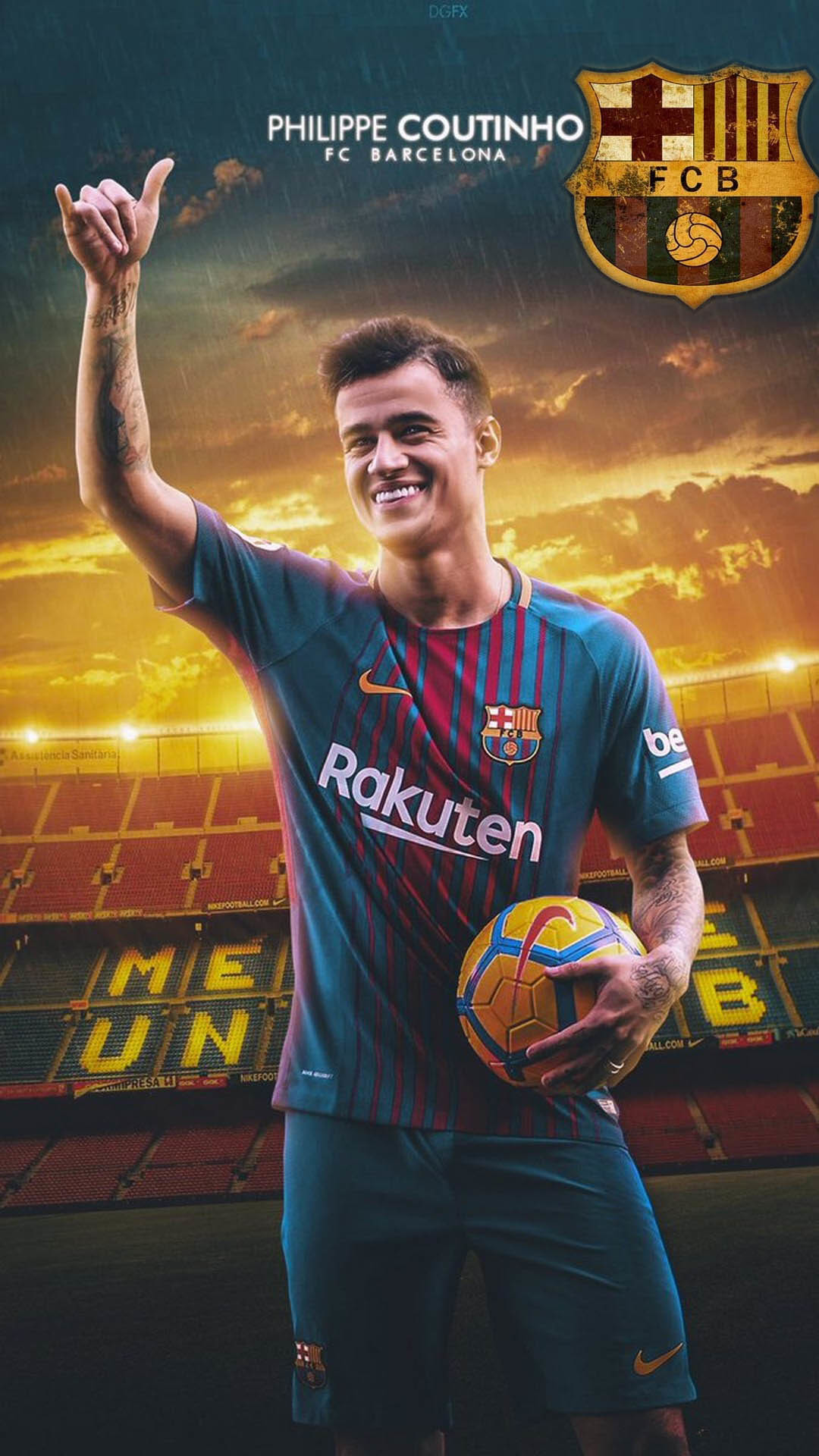 Res: 1080x1920, Coutinho Barcelona Android Wallpaper with HD resolution
