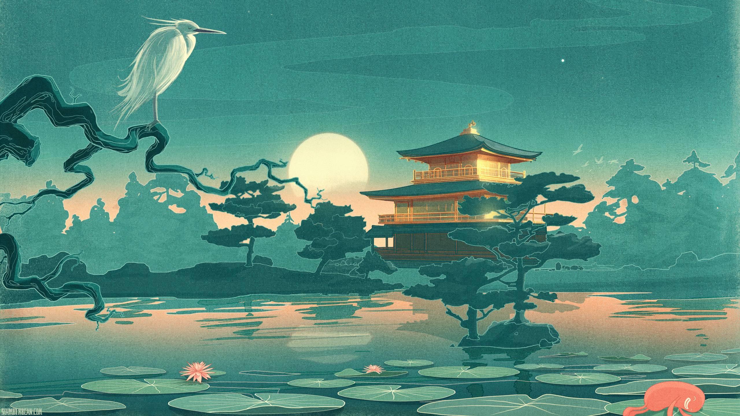 Res: 2560x1440, Pix For > Japanese Art Wallpaper