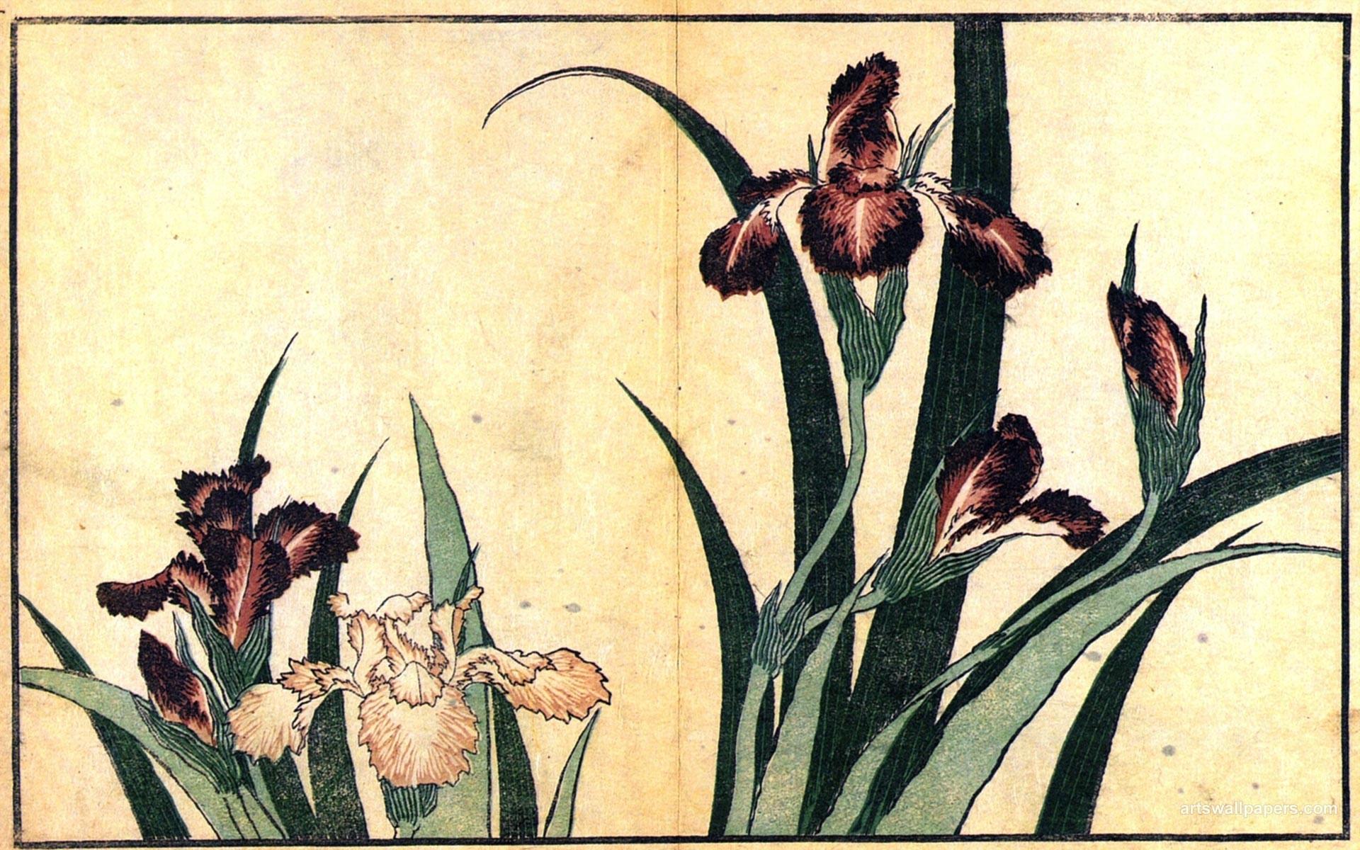 Res: 1920x1200, Hokusai Katsushika Ukiyo E Japanese Art Wallpaper,