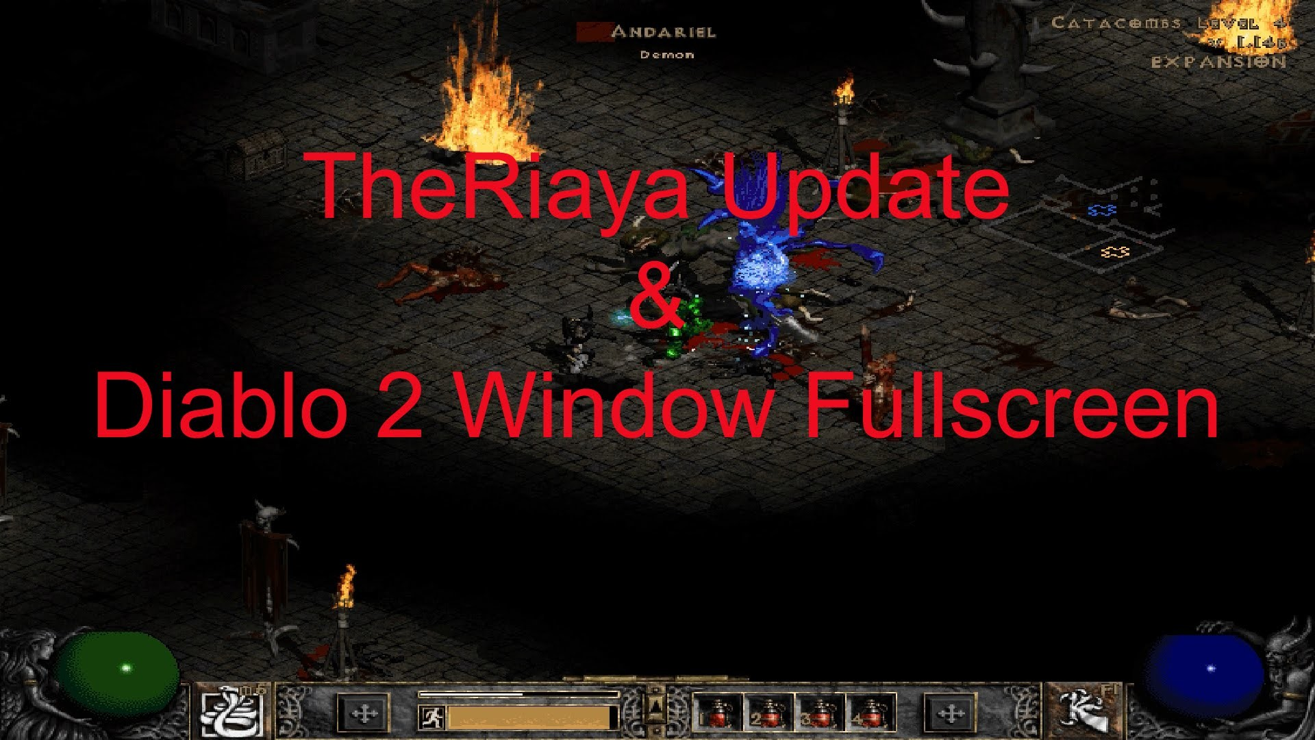 Res: 1920x1080, Update & Diablo II windowed fullscreen