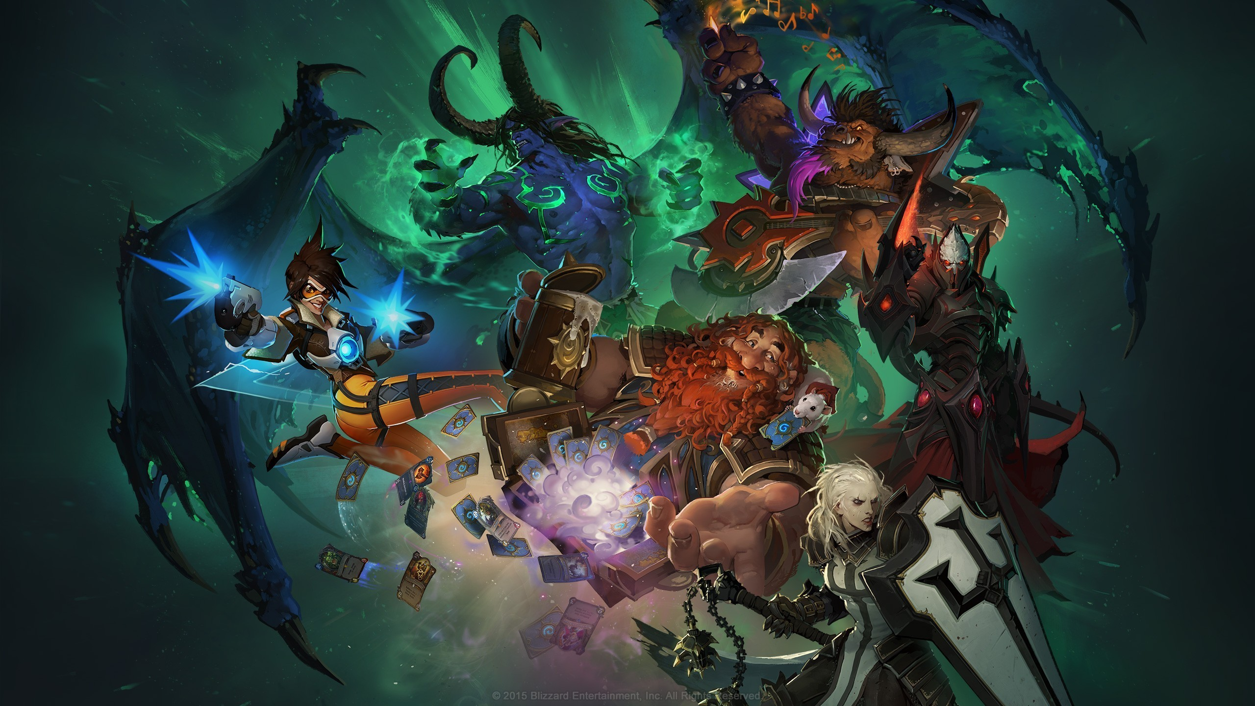Res: 2560x1440,  Blizzard Entertainment, Illidan, Overwatch, Diablo III, BlizzCon,  Hearthstone Wallpaper HD