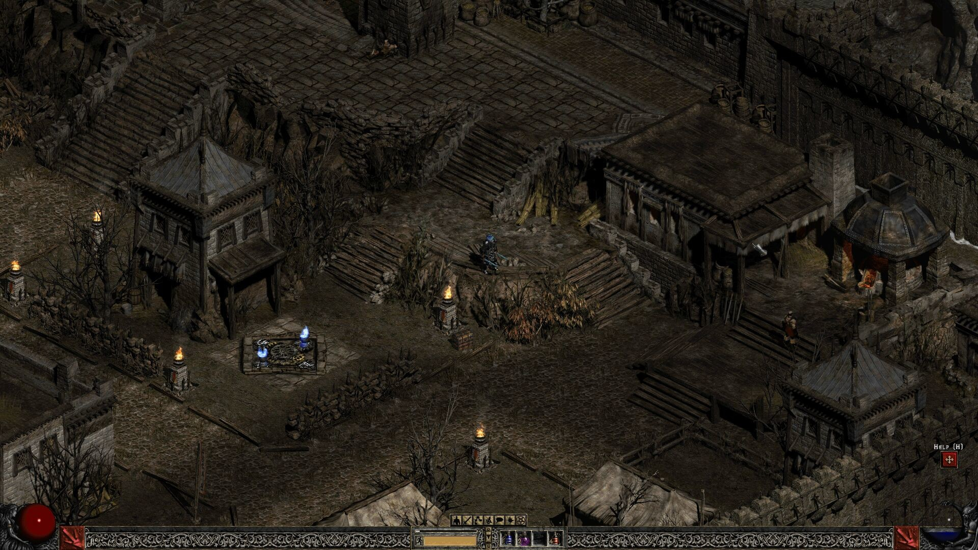 Res: 1920x1080, For anyone who still prefers Diablo 2... get d2multires. I know it's old  but this is very cool.