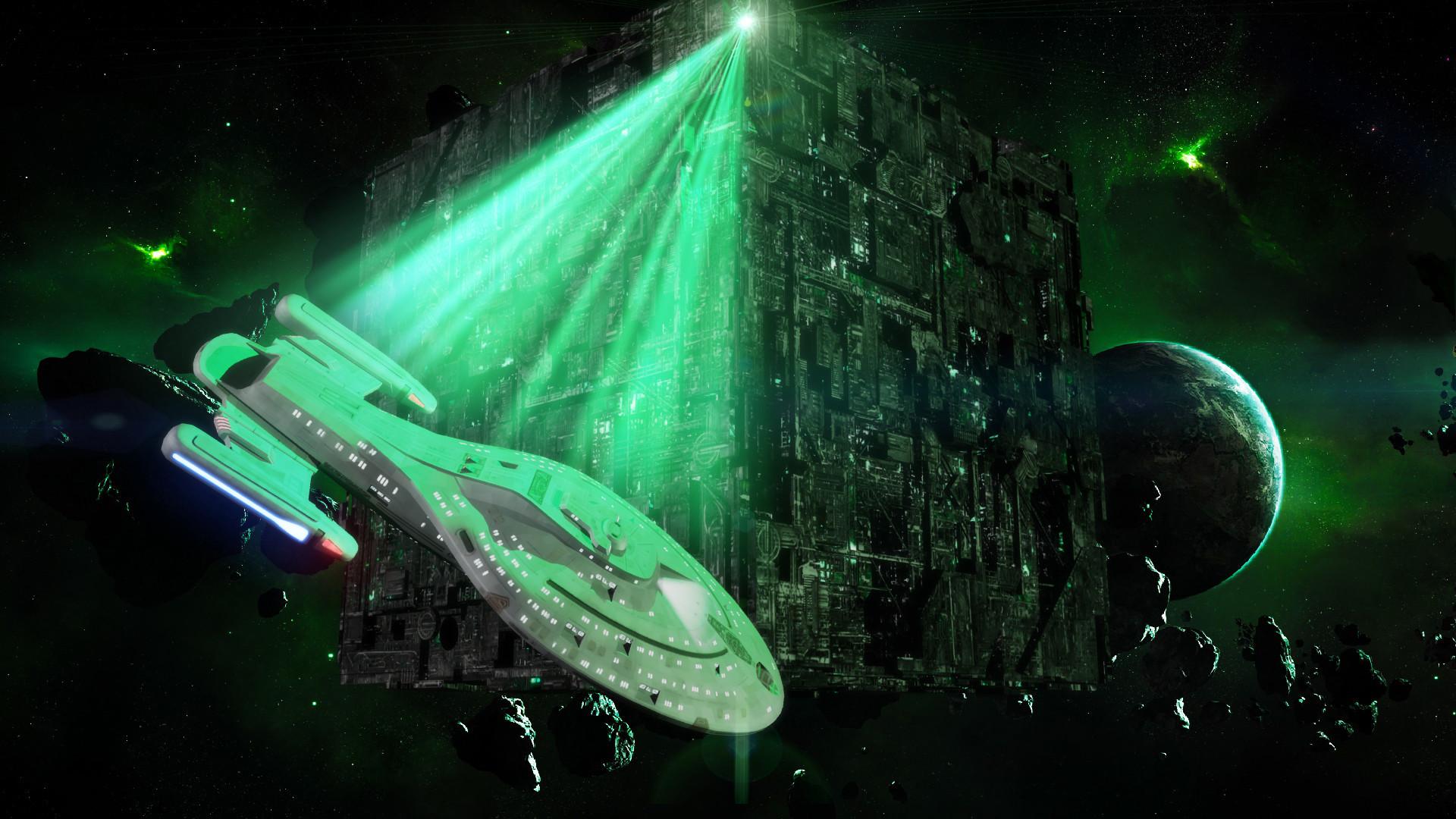 Res: 1920x1080, Borg Star Trek Full HD Background.
